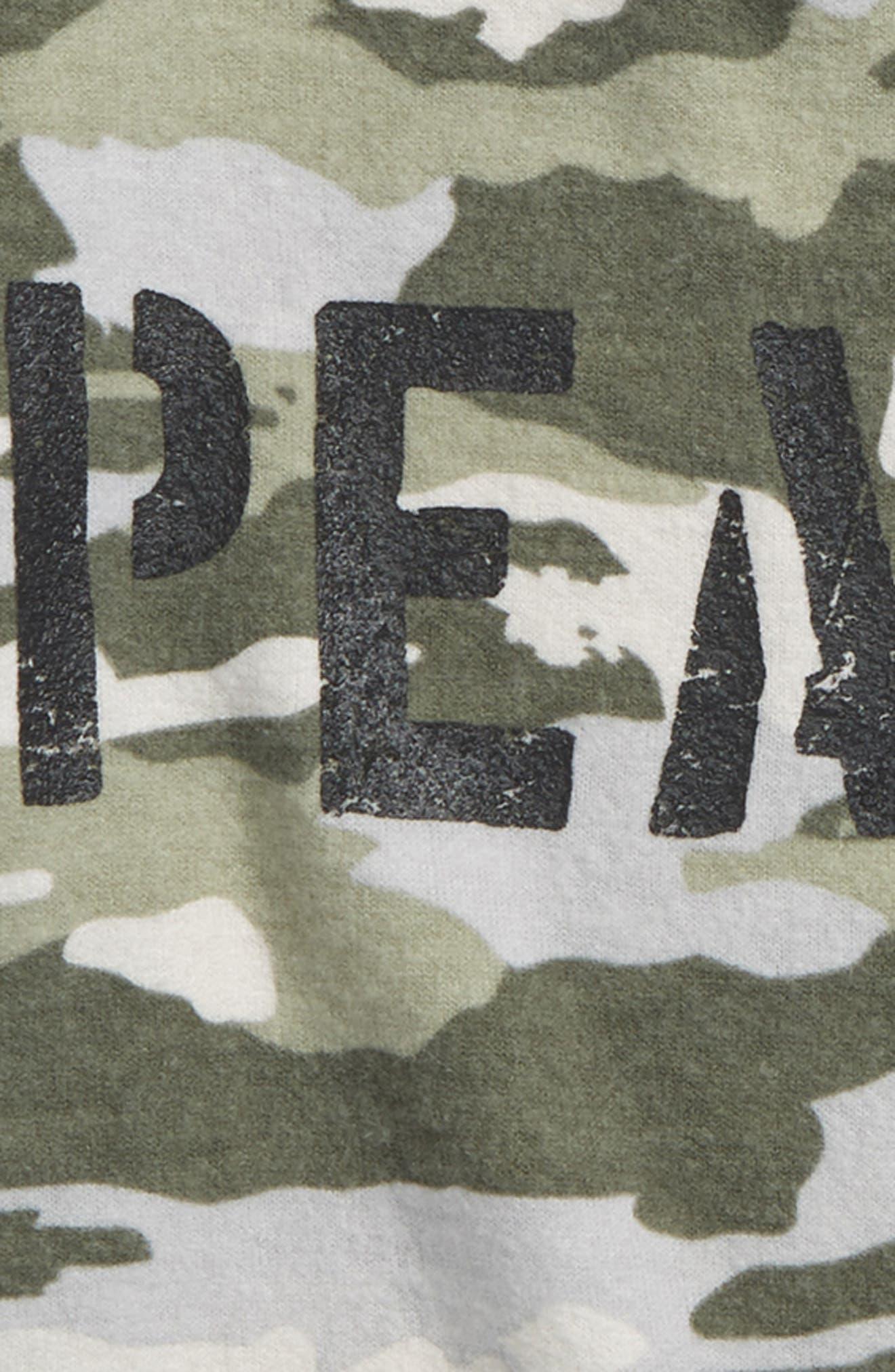 Peace Camo Shirt,                             Alternate thumbnail 2, color,                             Camoflage
