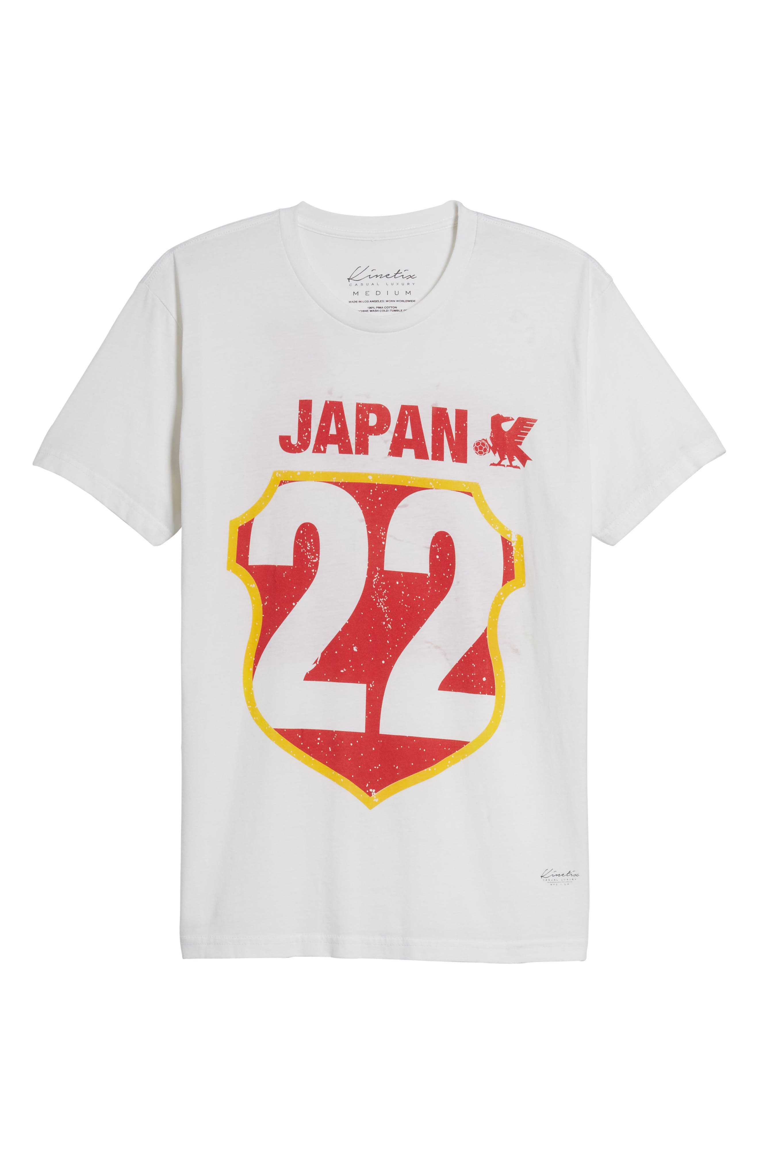 Japan Jersey T-Shirt,                             Alternate thumbnail 6, color,                             White