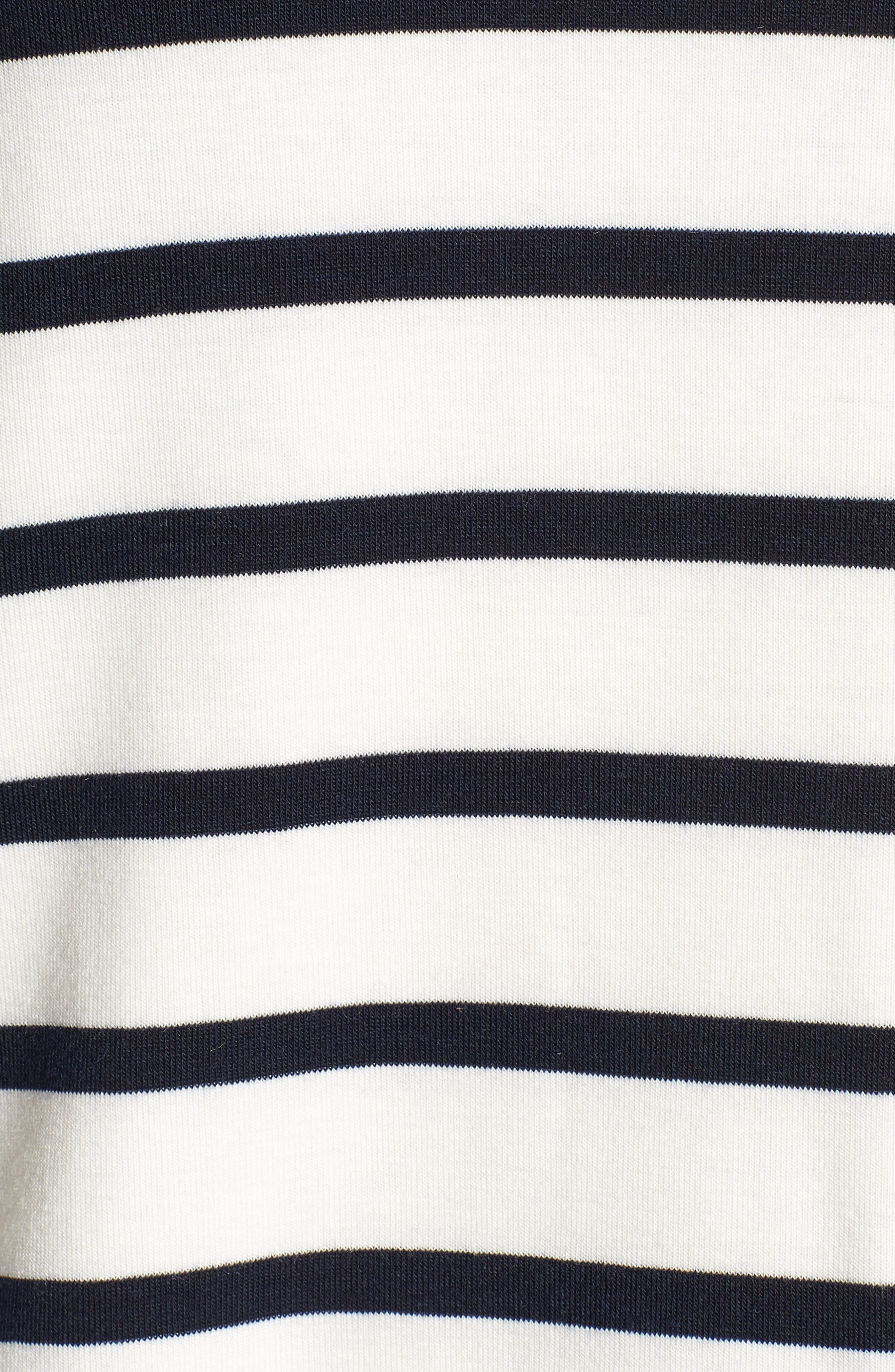 Bishop + Young Stripe Lace-Up Back Top,                             Alternate thumbnail 6, color,                             Black Stripe