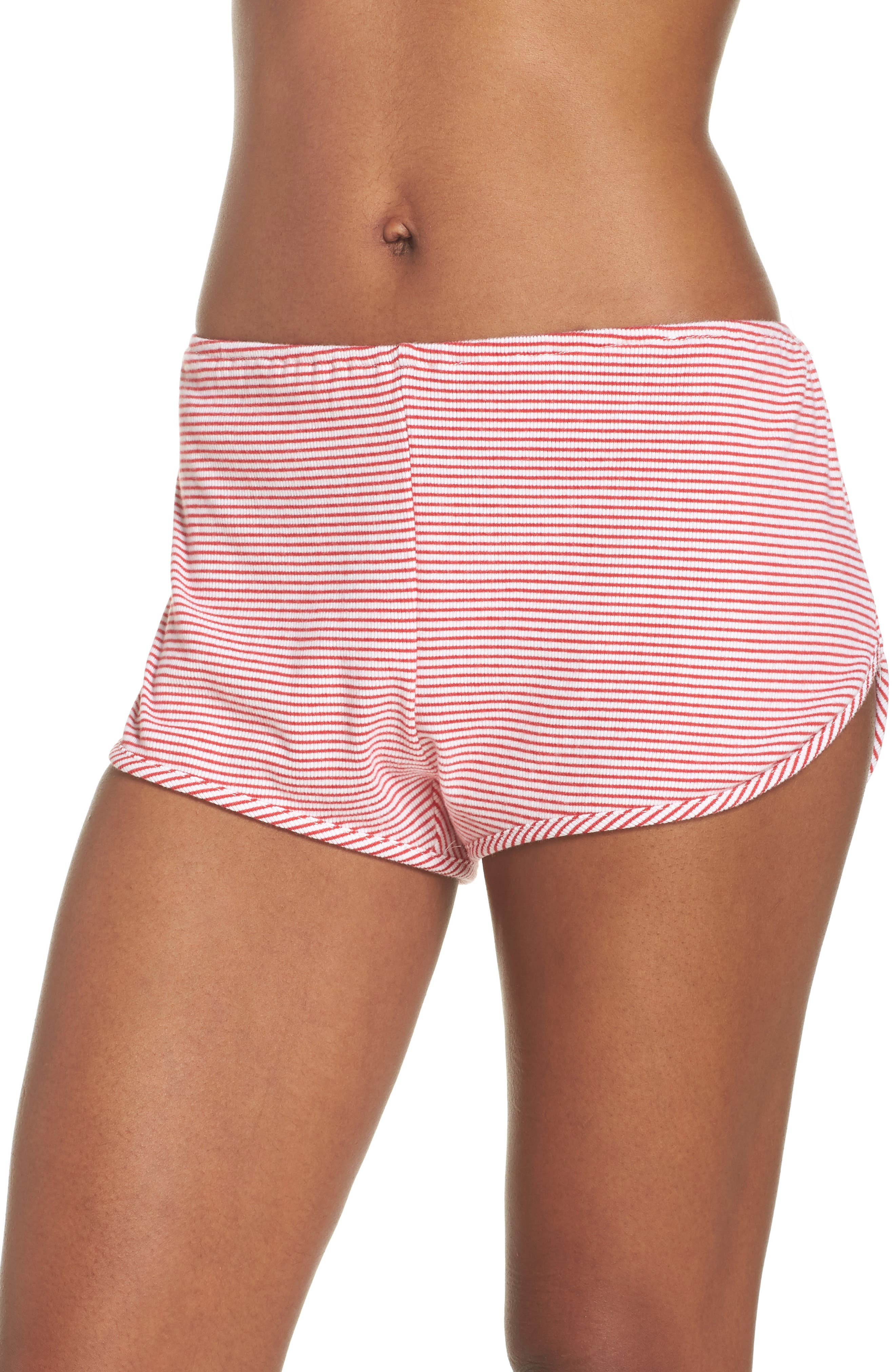 Penny Shorts,                             Main thumbnail 1, color,                             Red Stripe