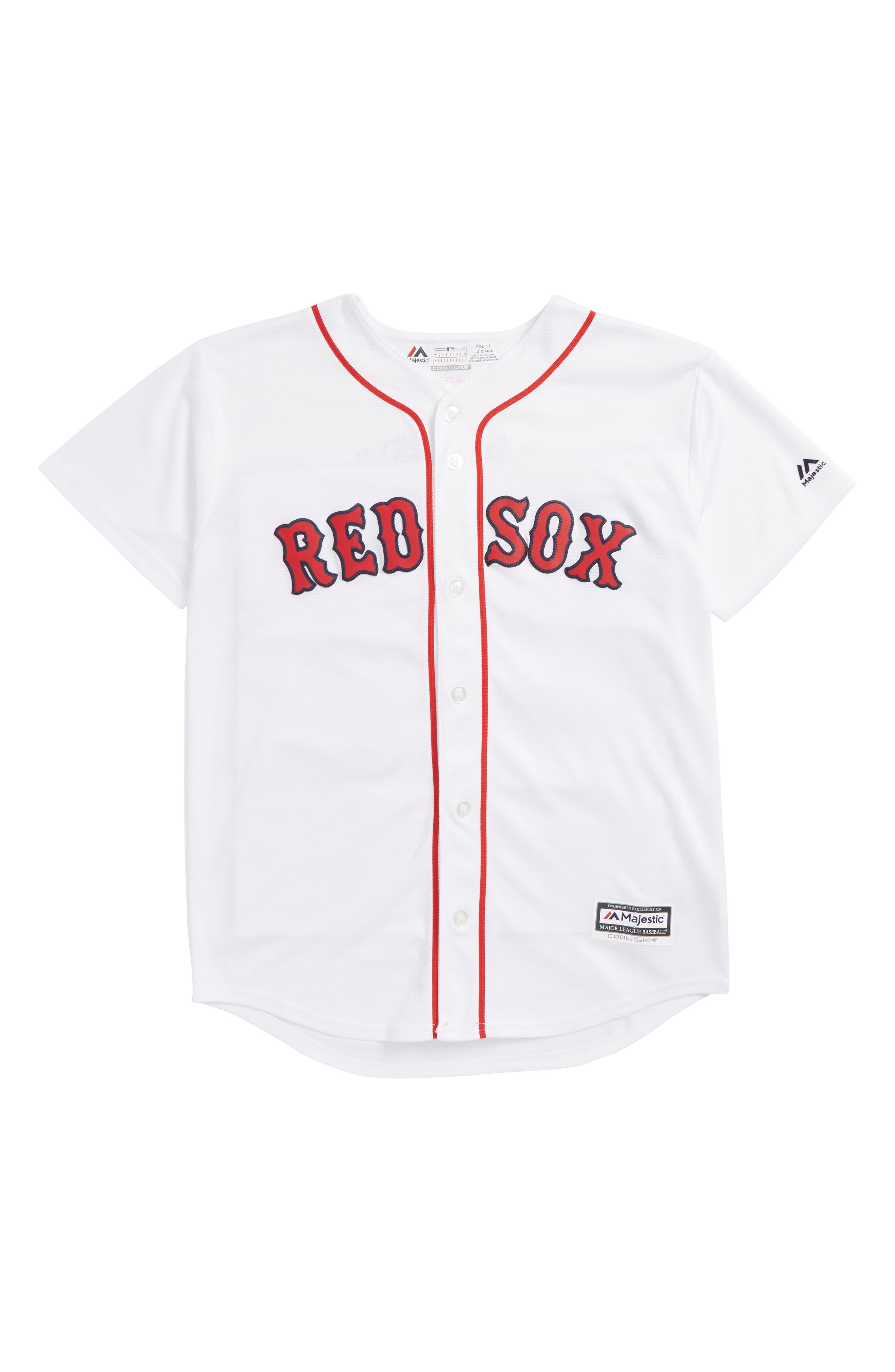 Boston Red Sox - Dustin Pedroia Baseball Jersey,                             Main thumbnail 1, color,                             White