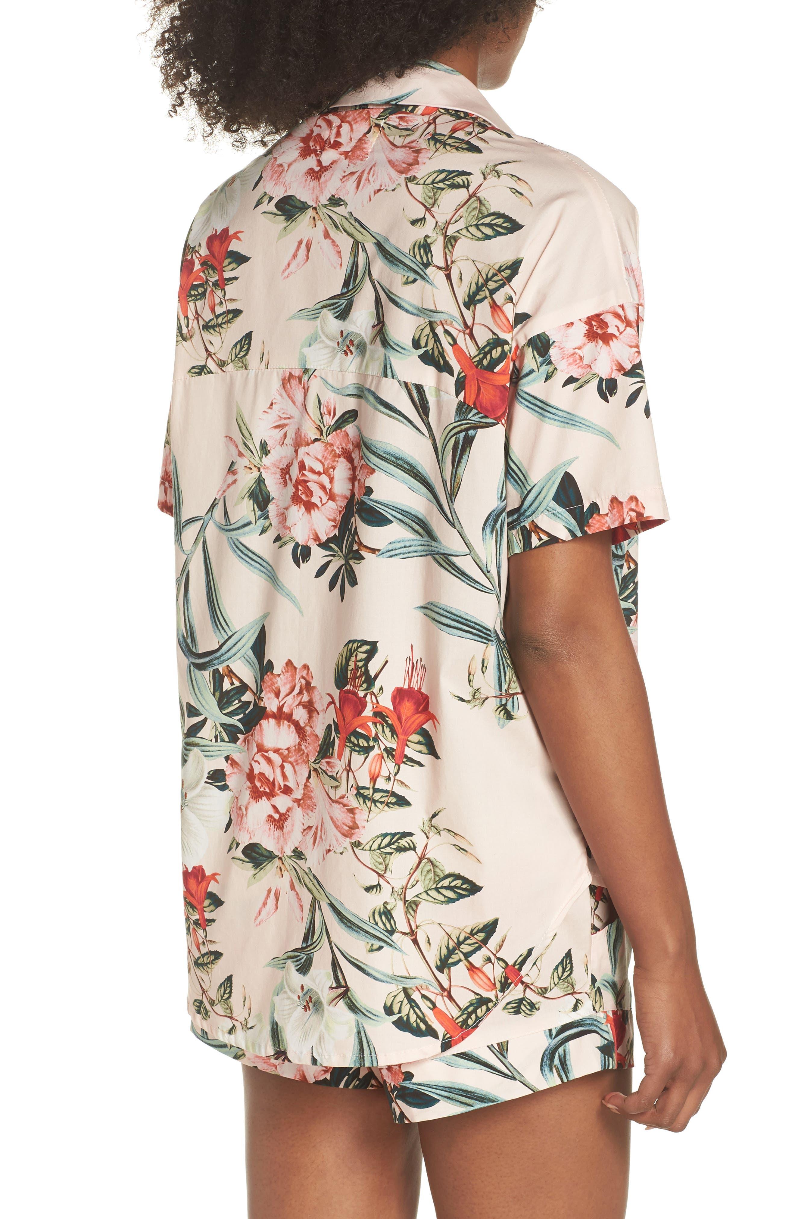 Gigi Stripe Pajama Top,                             Alternate thumbnail 2, color,                             Lt. Pink Floral