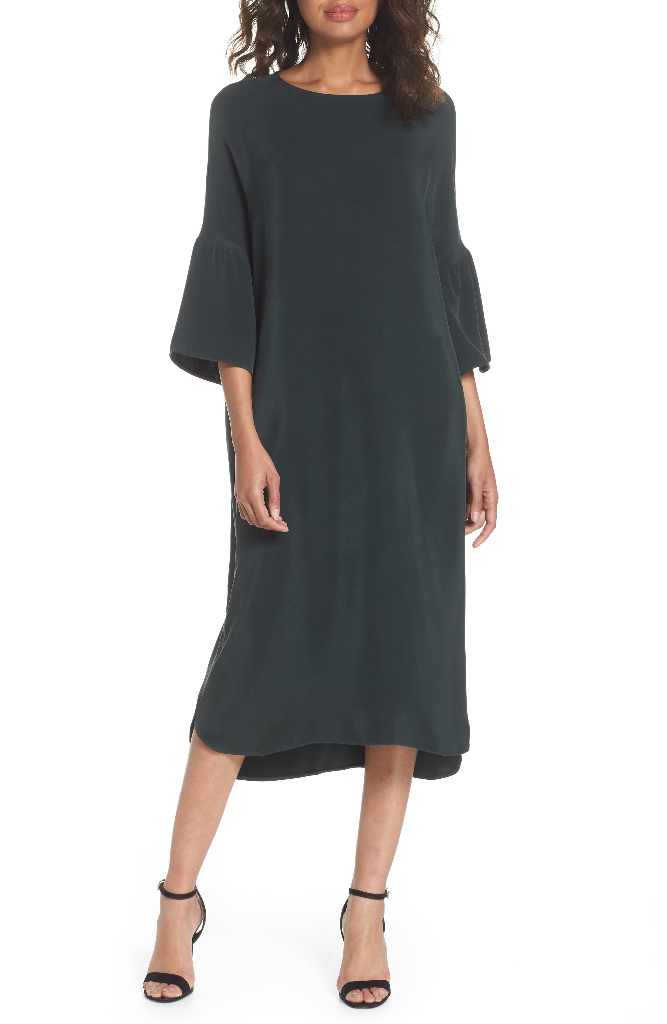 Stroll In The Woods Shift Dress,                             Main thumbnail 1, color,                             Green