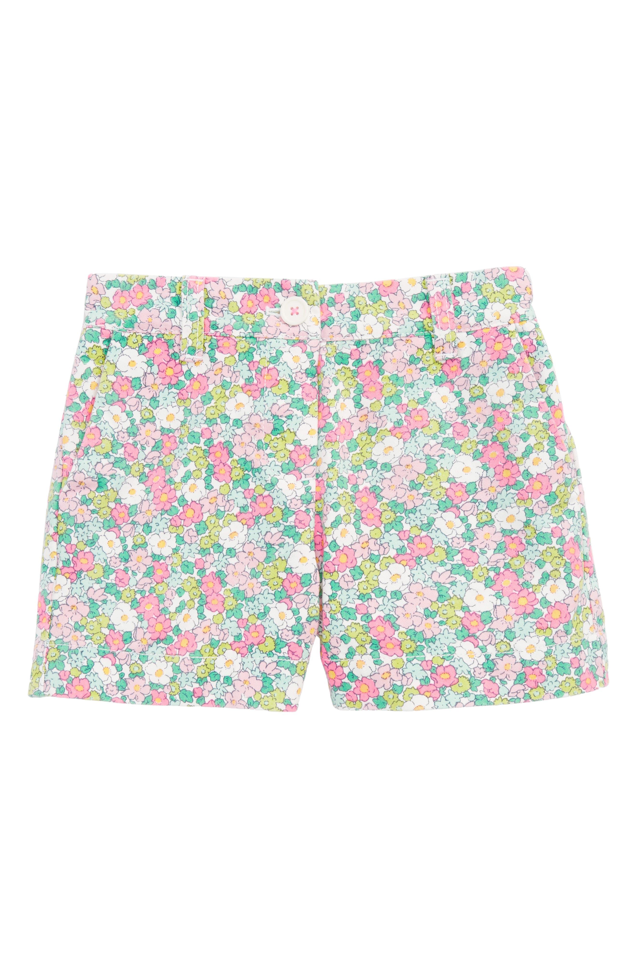 Bright Adventure Shorts,                             Main thumbnail 1, color,                             Knockout Pink Vintage Floral