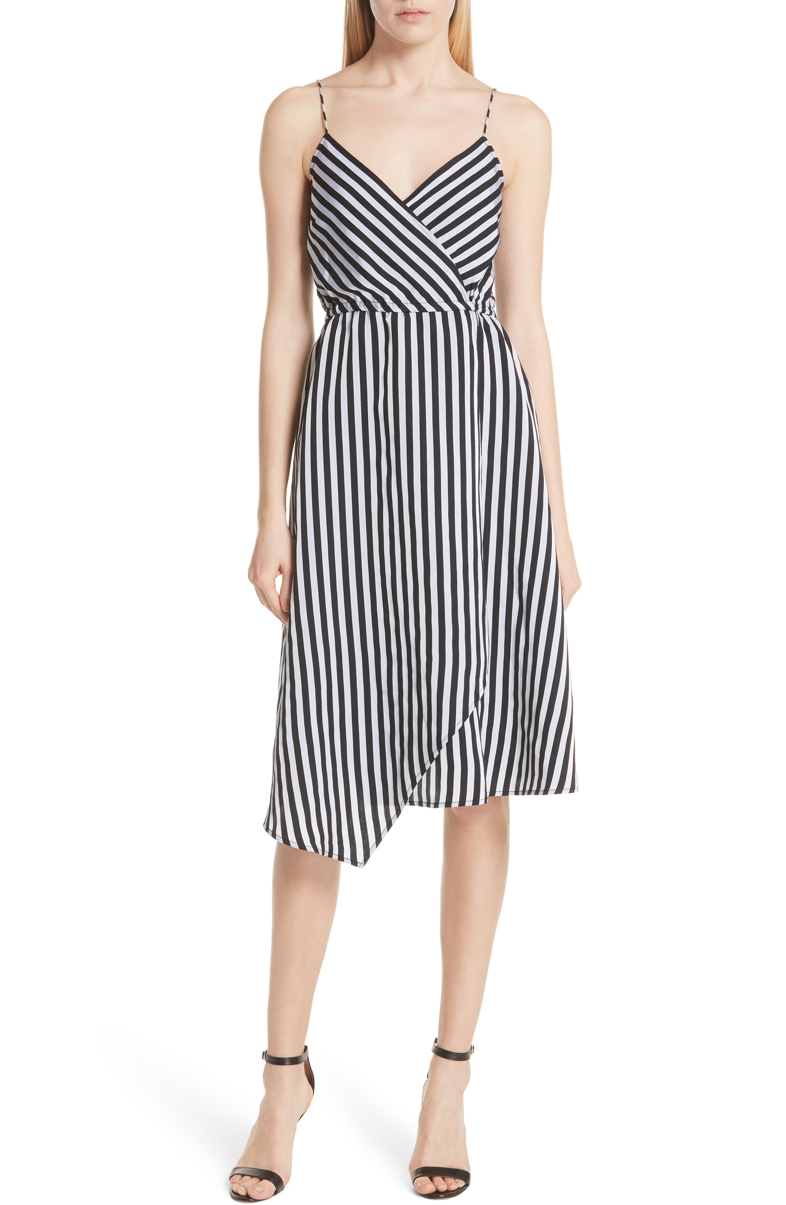 Tracy Reese Asymmetrical Hem Slipdress