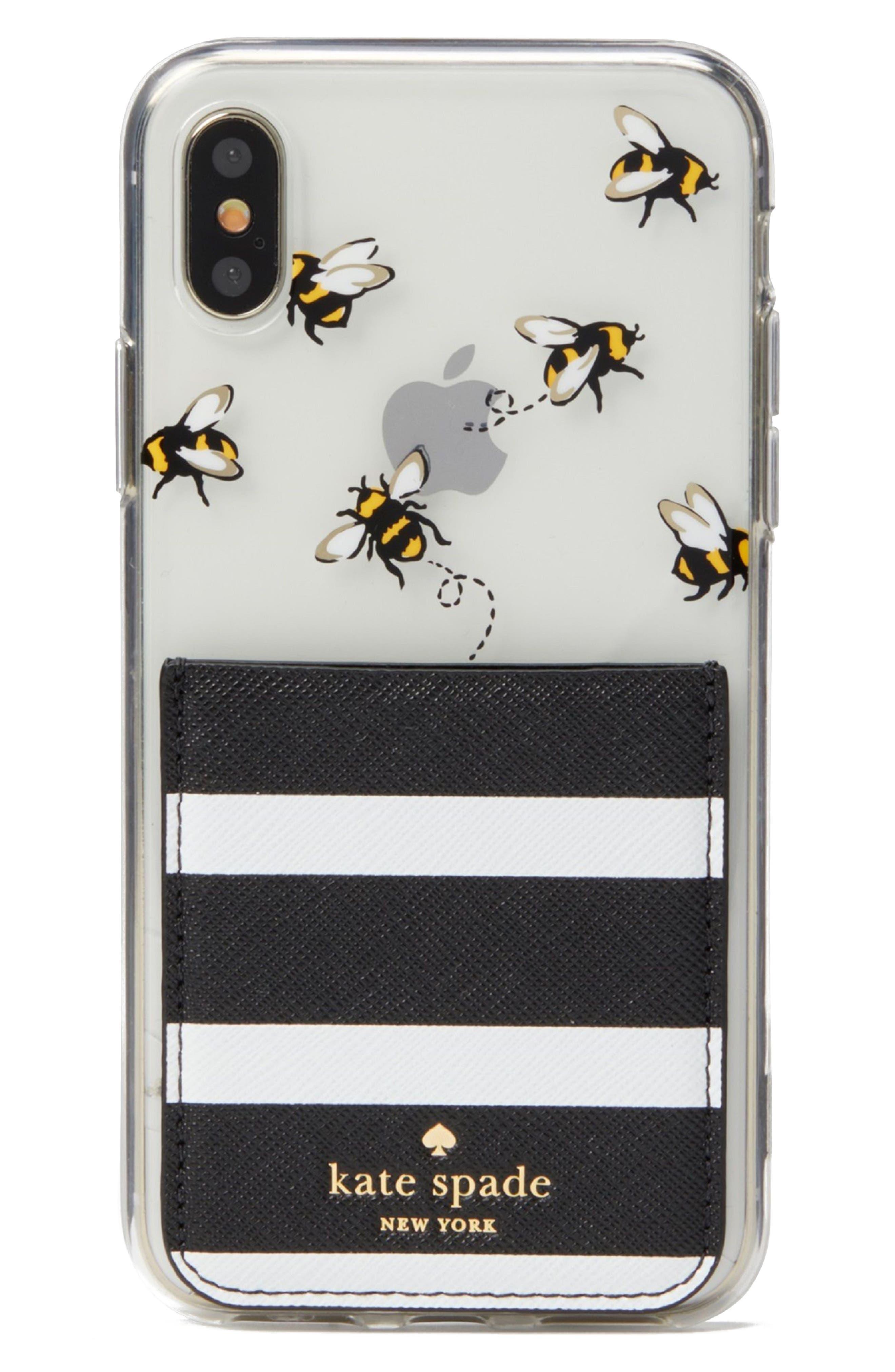 stick to it iPhone X case & sticker pocket set,                             Alternate thumbnail 4, color,                             Multi
