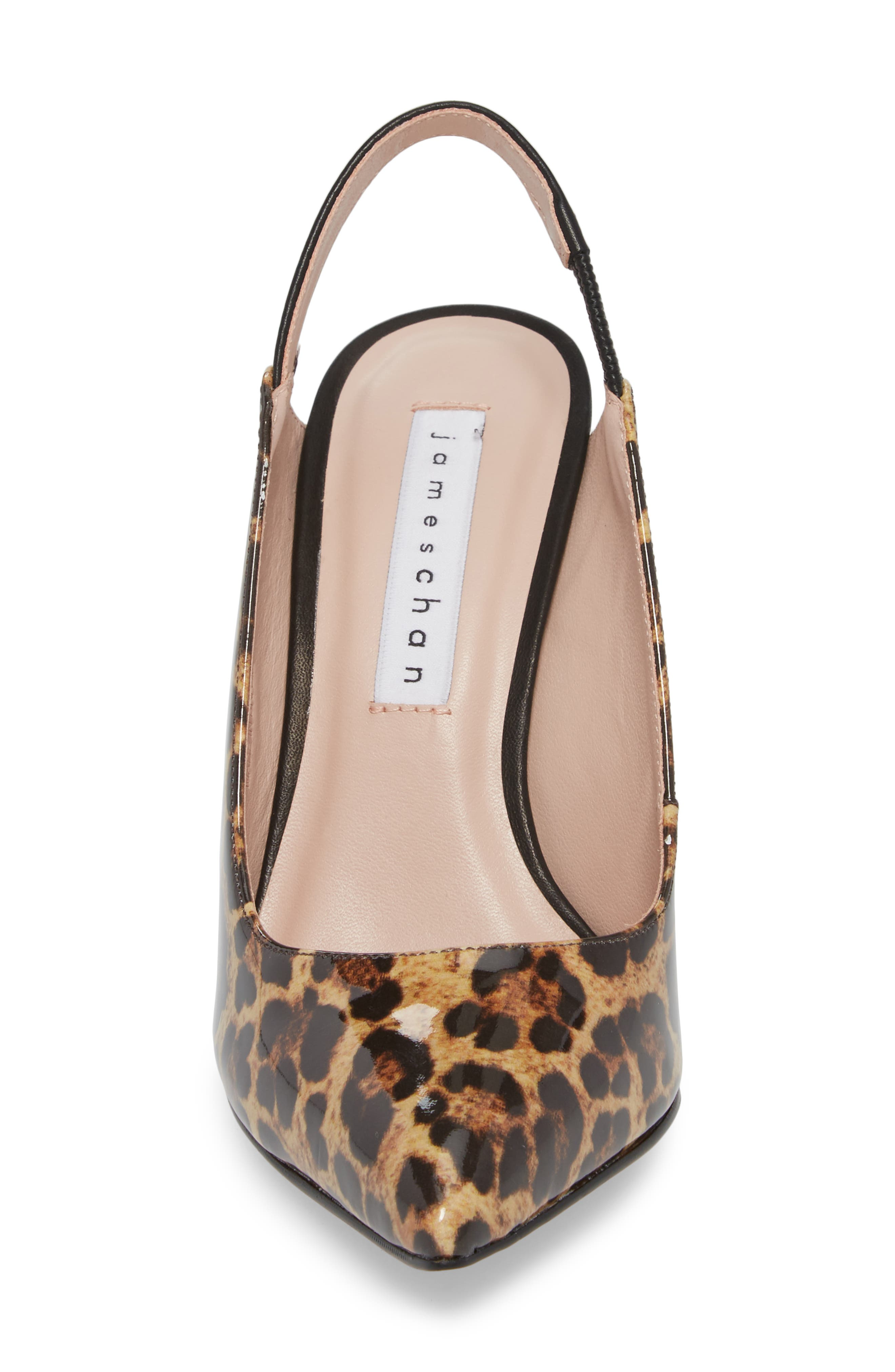 Alice Pointy Toe Pump,                             Alternate thumbnail 4, color,                             Leopard Leather