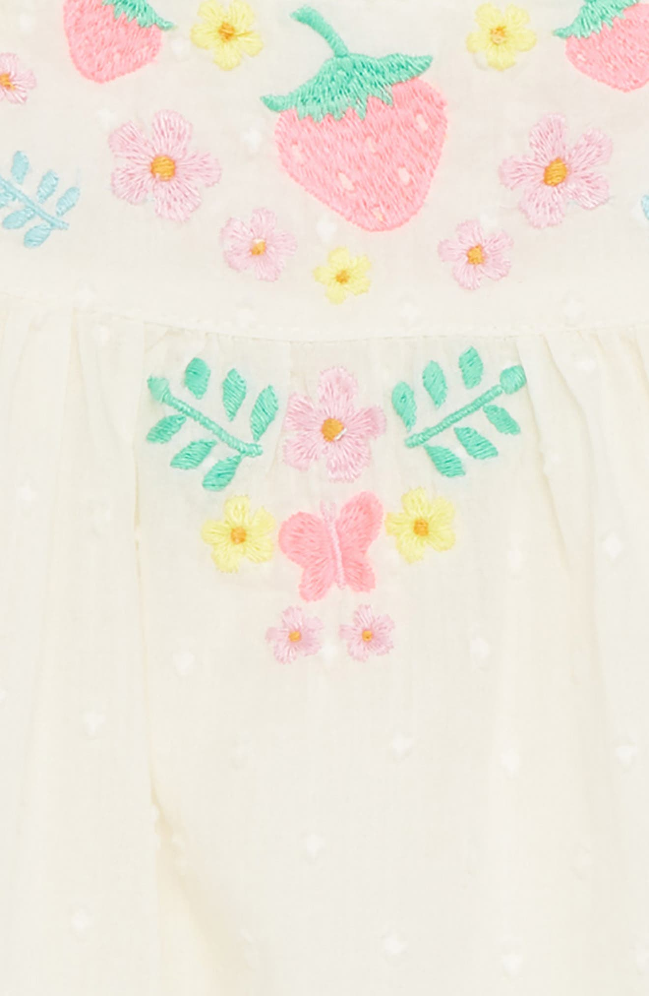 Sunny Days Top & Shorts Set,                             Alternate thumbnail 2, color,                             Ivory Embroidery