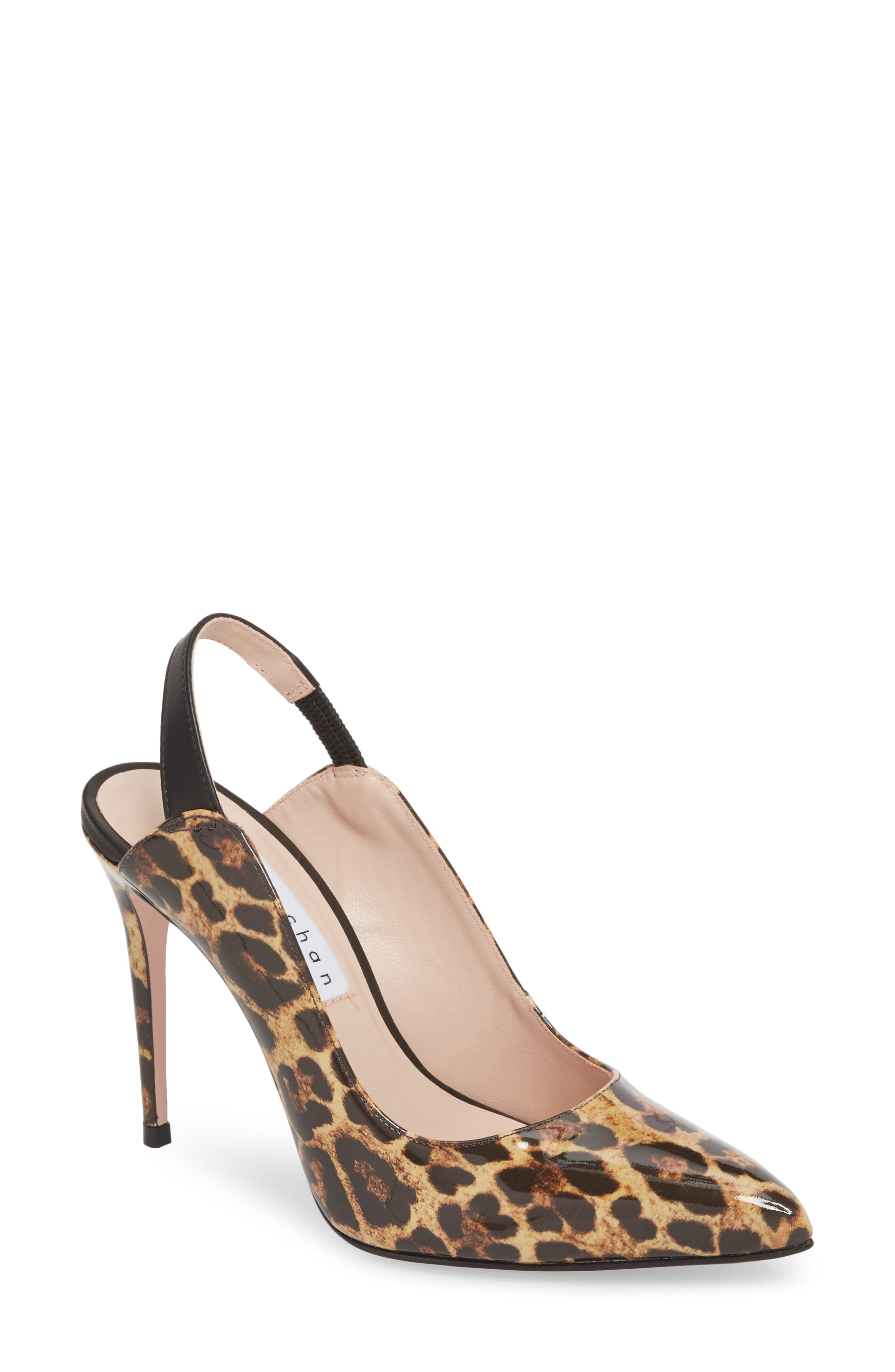 Alice Pointy Toe Pump,                         Main,                         color, Leopard Leather