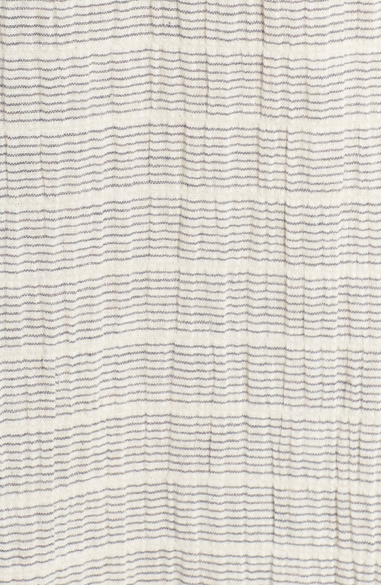 Embroidered Off the Shoulder Dress,                             Alternate thumbnail 6, color,                             Ivory