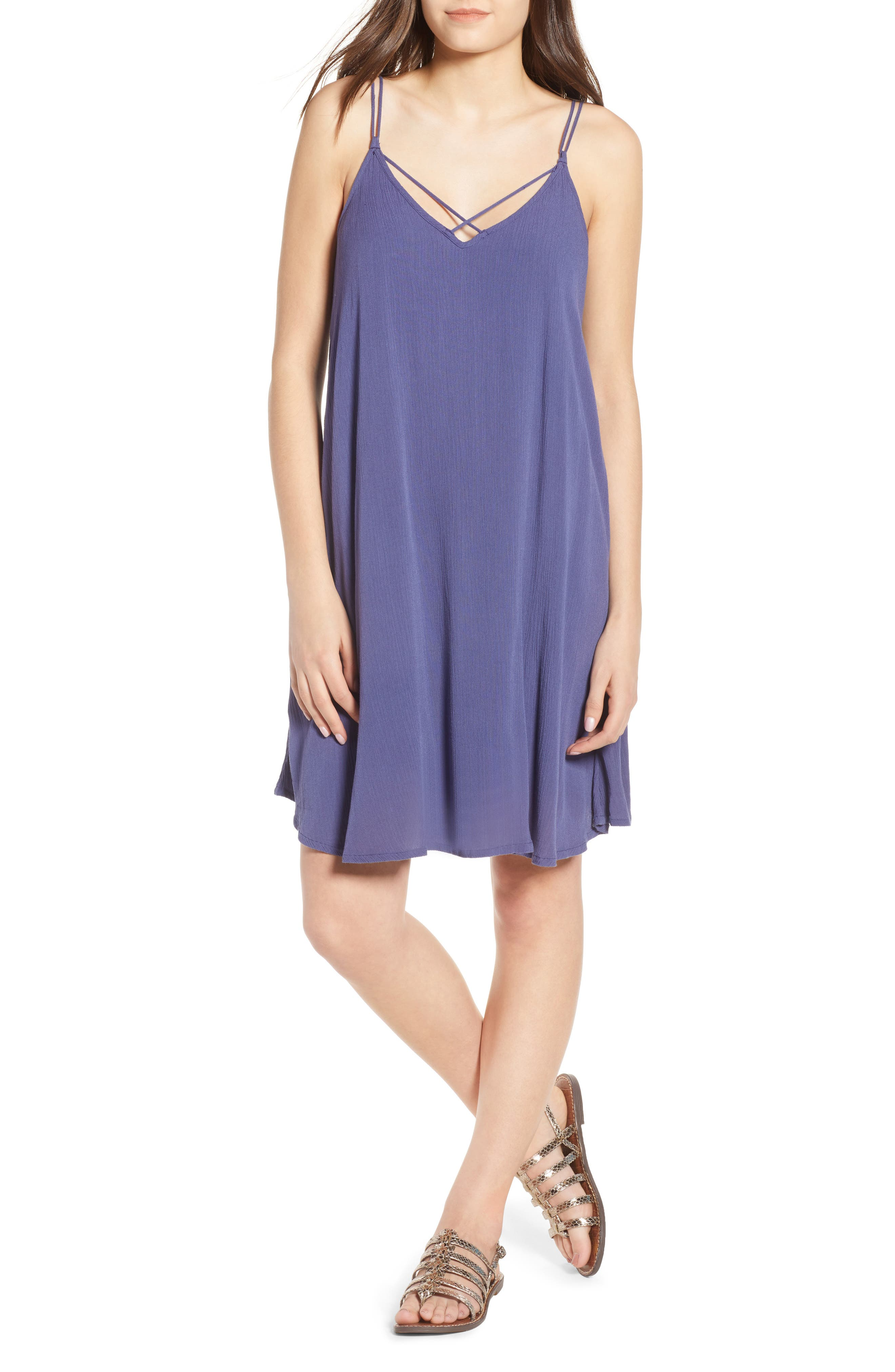 Half Year Old Trapeze Dress,                         Main,                         color, Crown Blue
