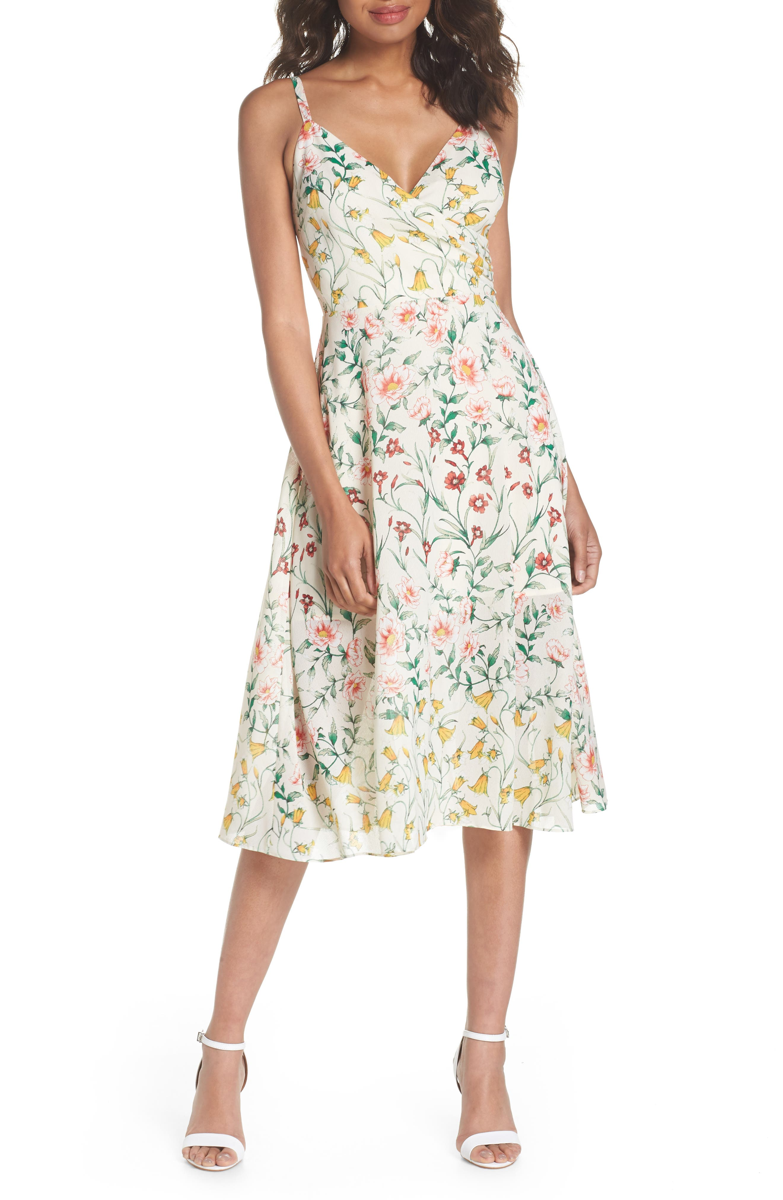 Ali & Jay Rose Colored Glasses Floral Fit & Flare Midi Dress