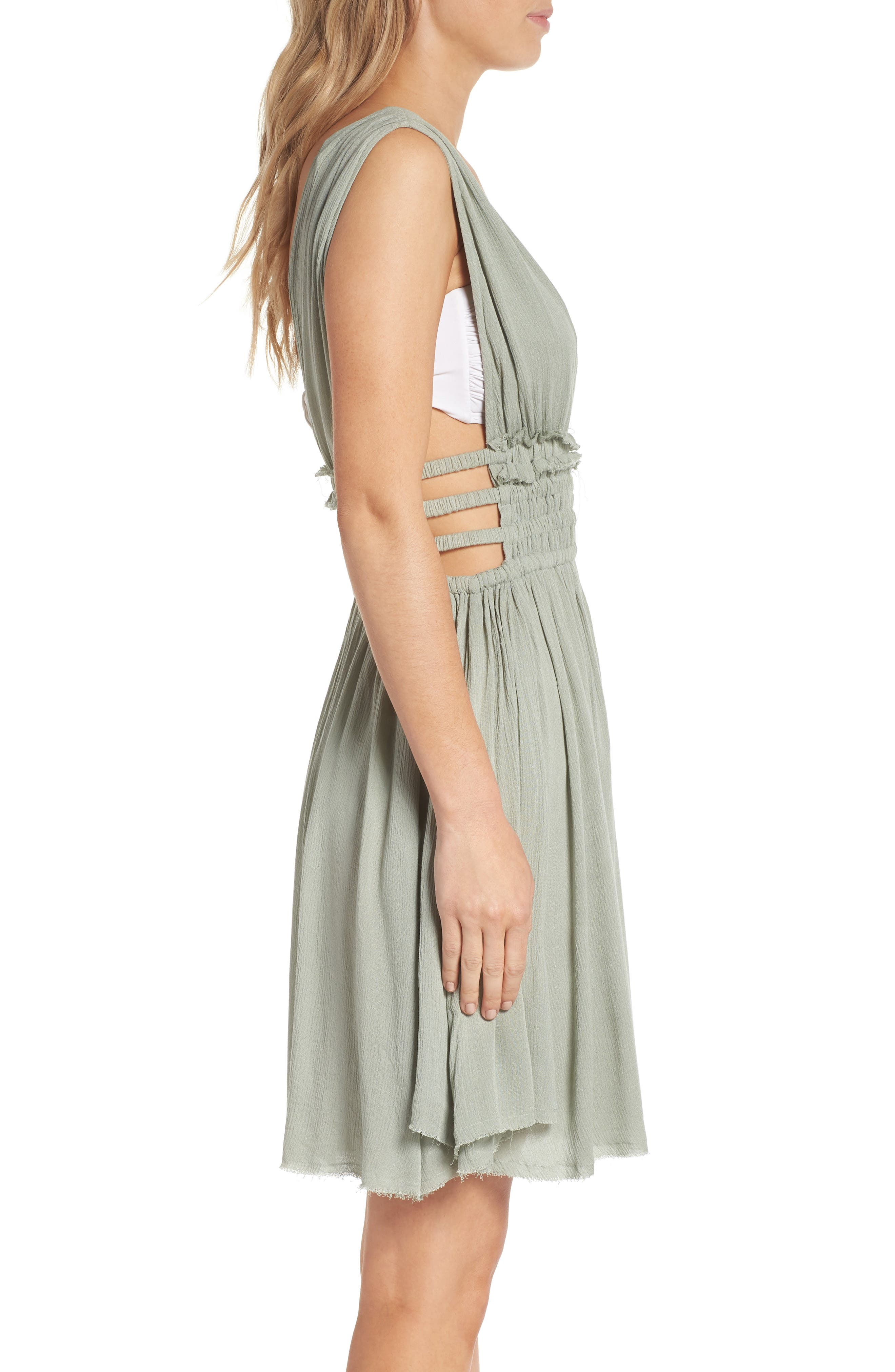 Goddess Cover-Up Dress,                             Alternate thumbnail 3, color,                             Seafoam