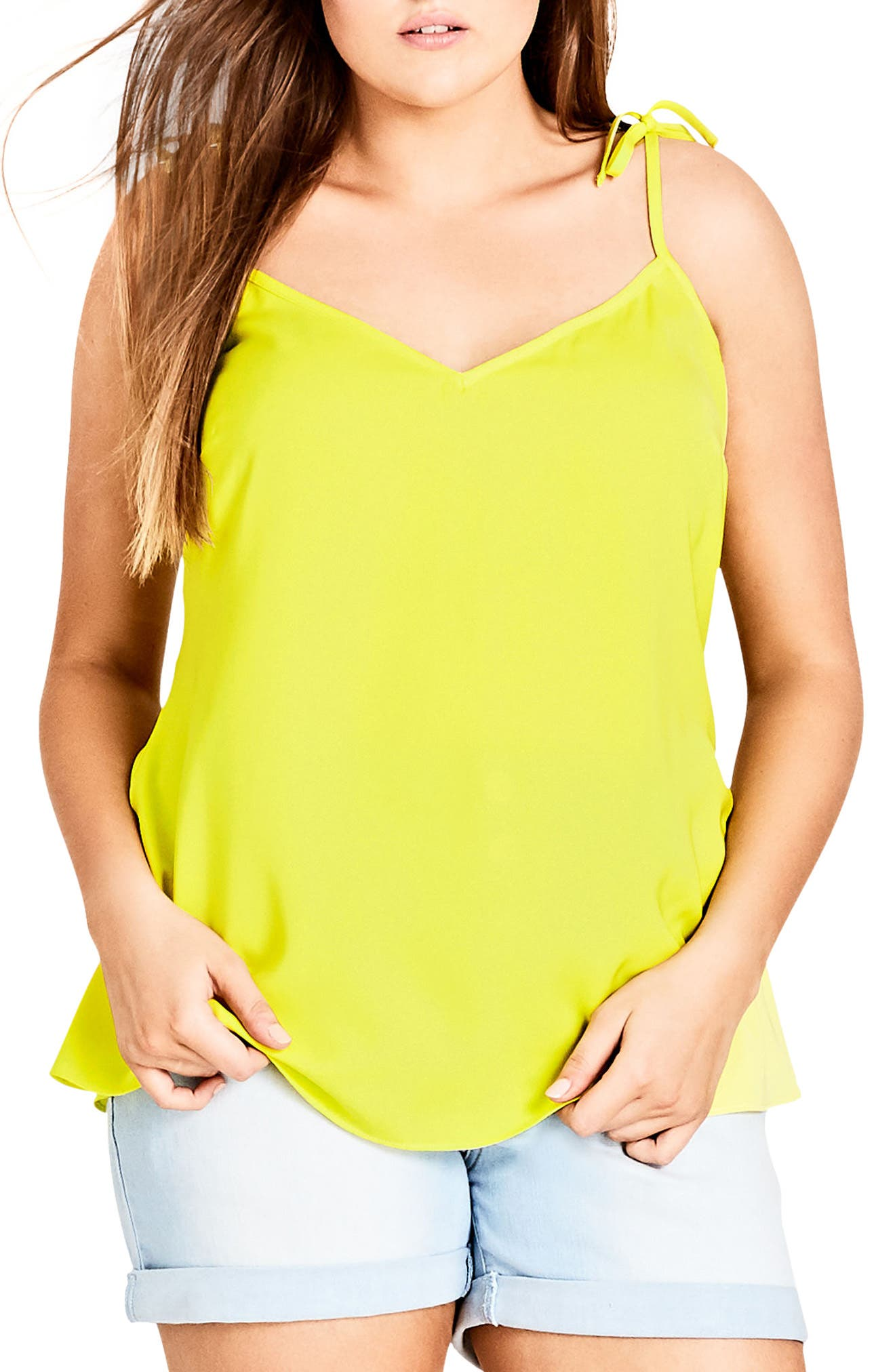 City Chic Sweet Tie Camisole (Plus Size)