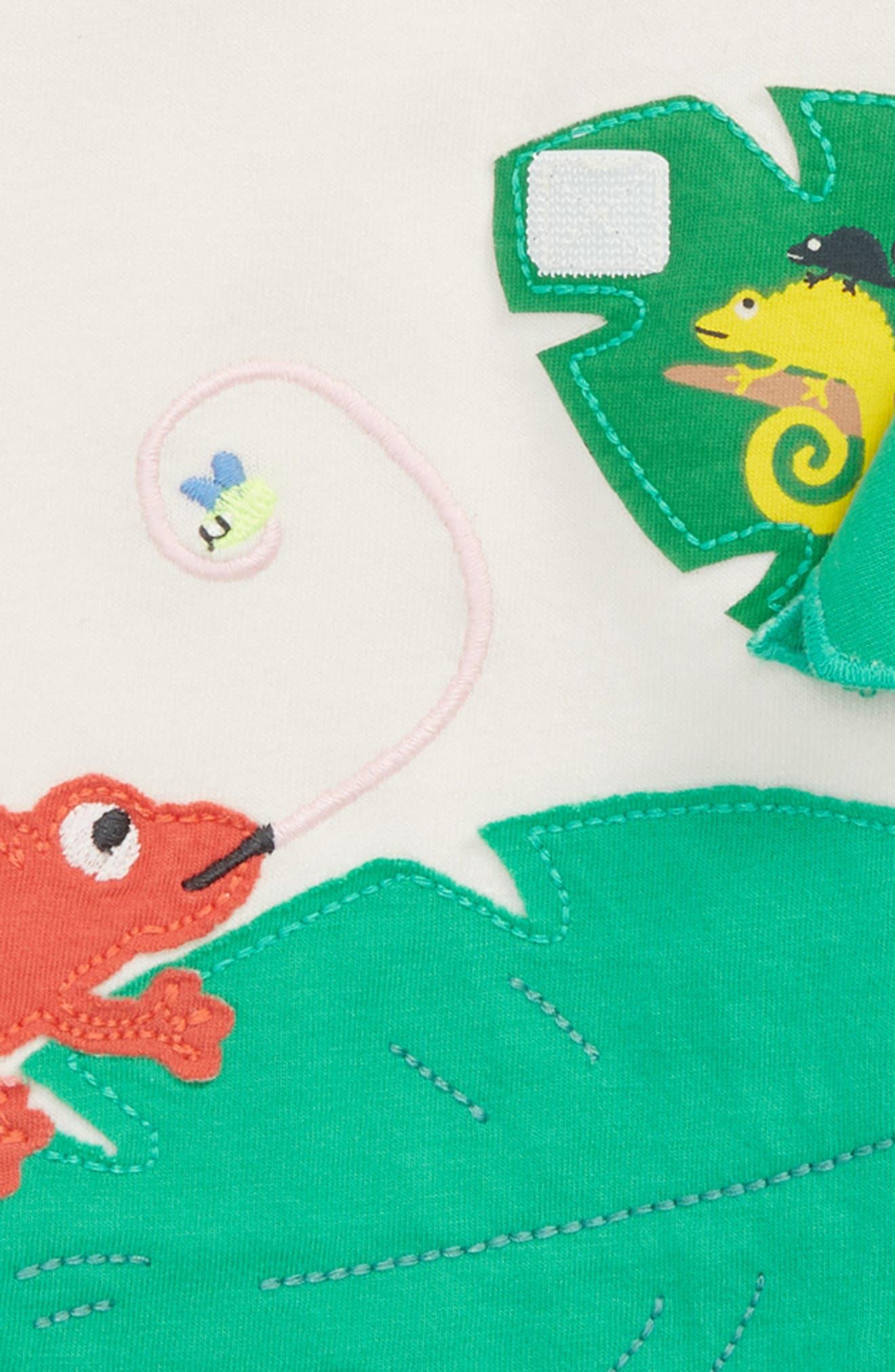 Peekaboo T-Shirt,                             Alternate thumbnail 2, color,                             Ivory Lizards