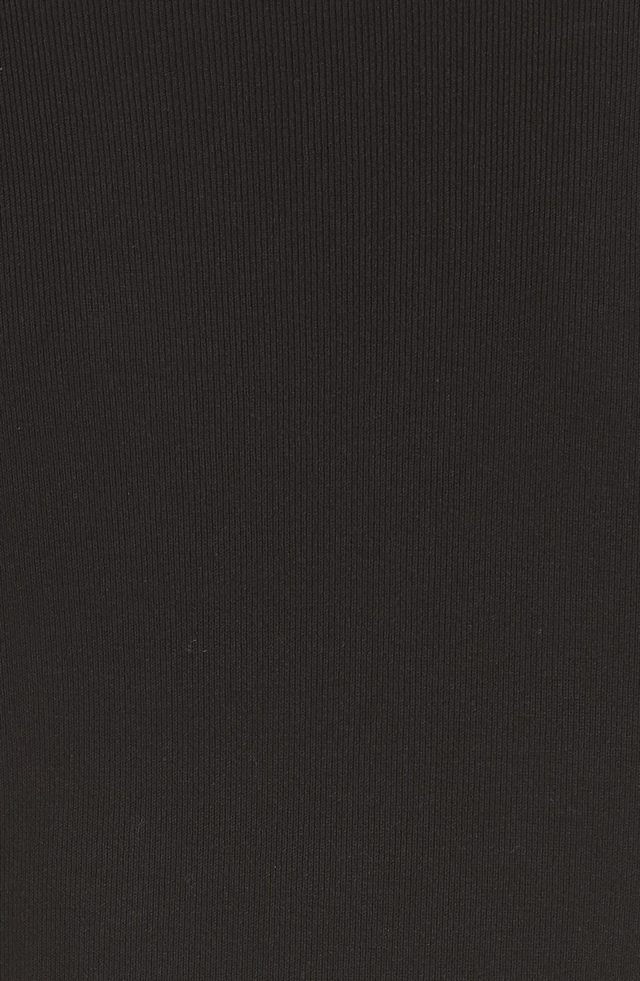 Nilimary Prosecco Midi Dress,                             Alternate thumbnail 5, color,                             Black