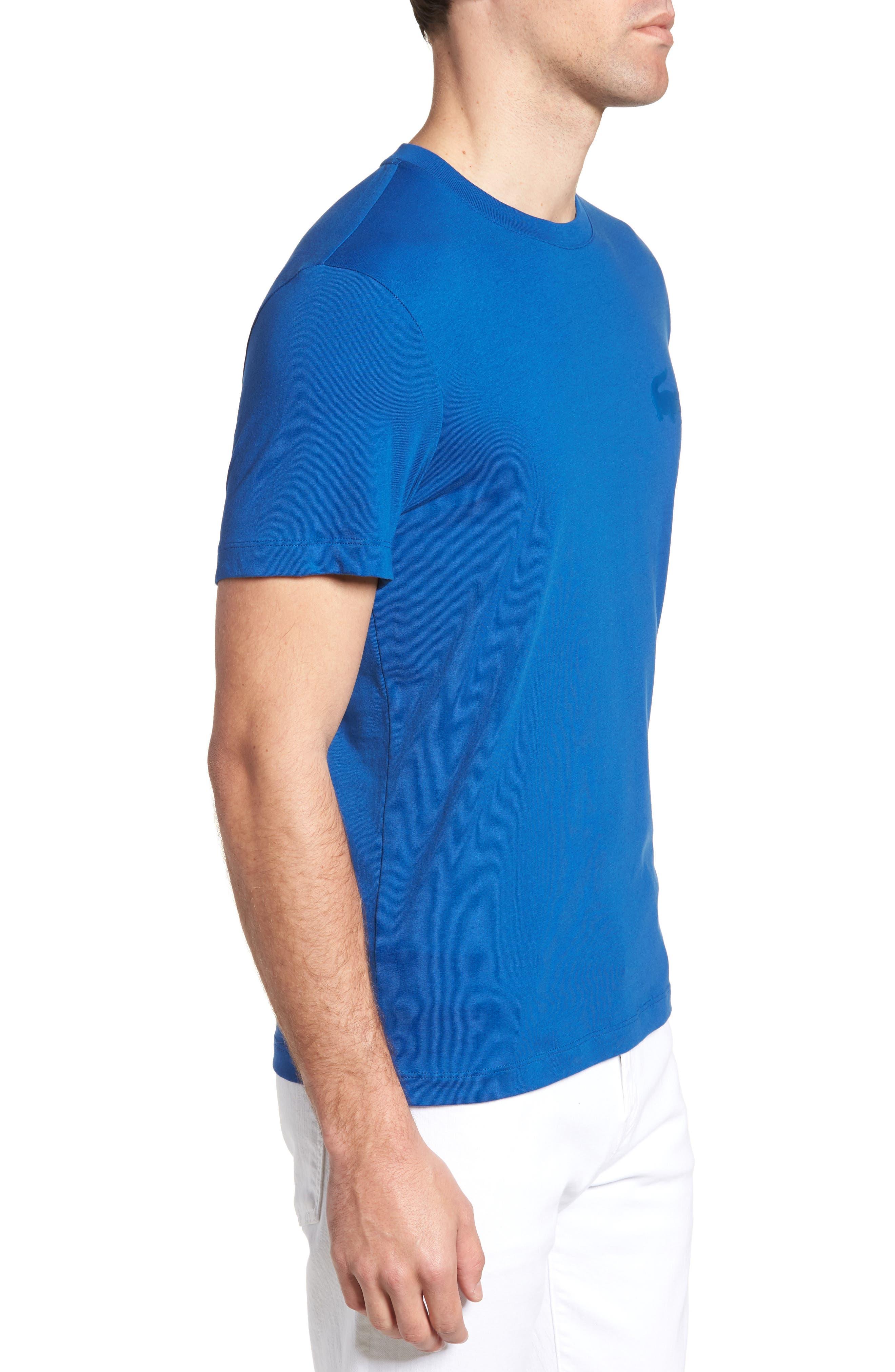 Crewneck T-Shirt,                             Alternate thumbnail 3, color,                             Electric/ Marino