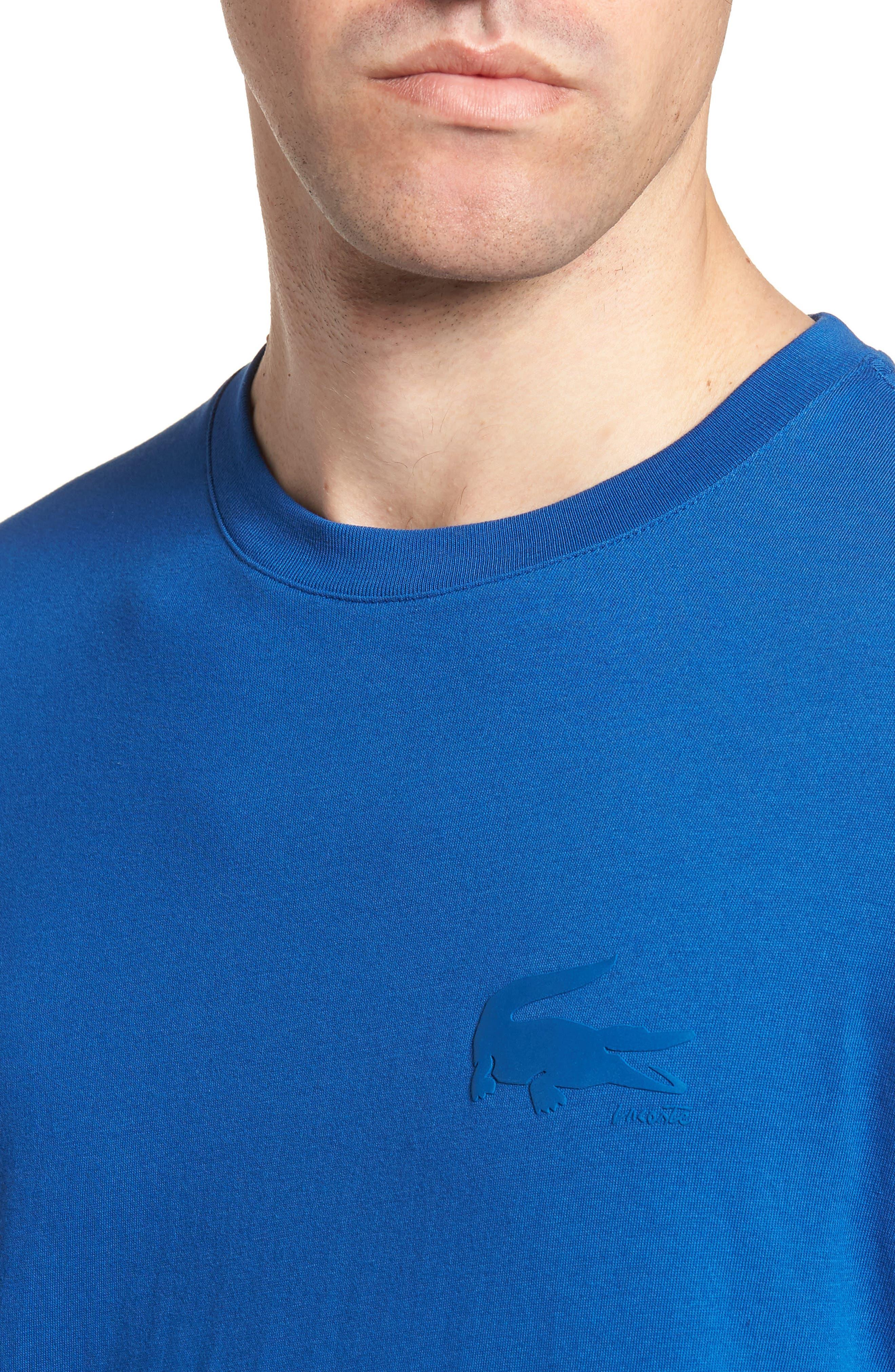 Crewneck T-Shirt,                             Alternate thumbnail 4, color,                             Electric/ Marino