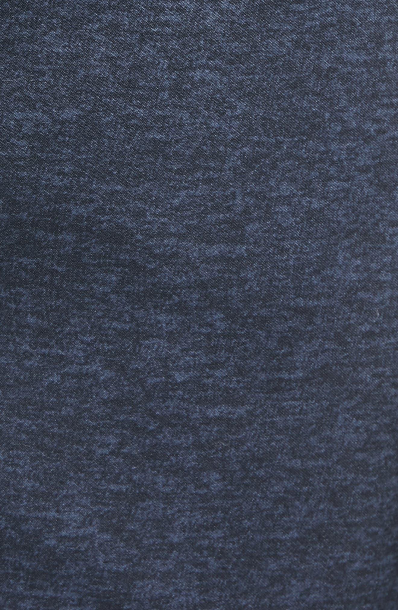 Heathered Colorblock Swim Trunks,                             Alternate thumbnail 5, color,                             Dark Sapphire