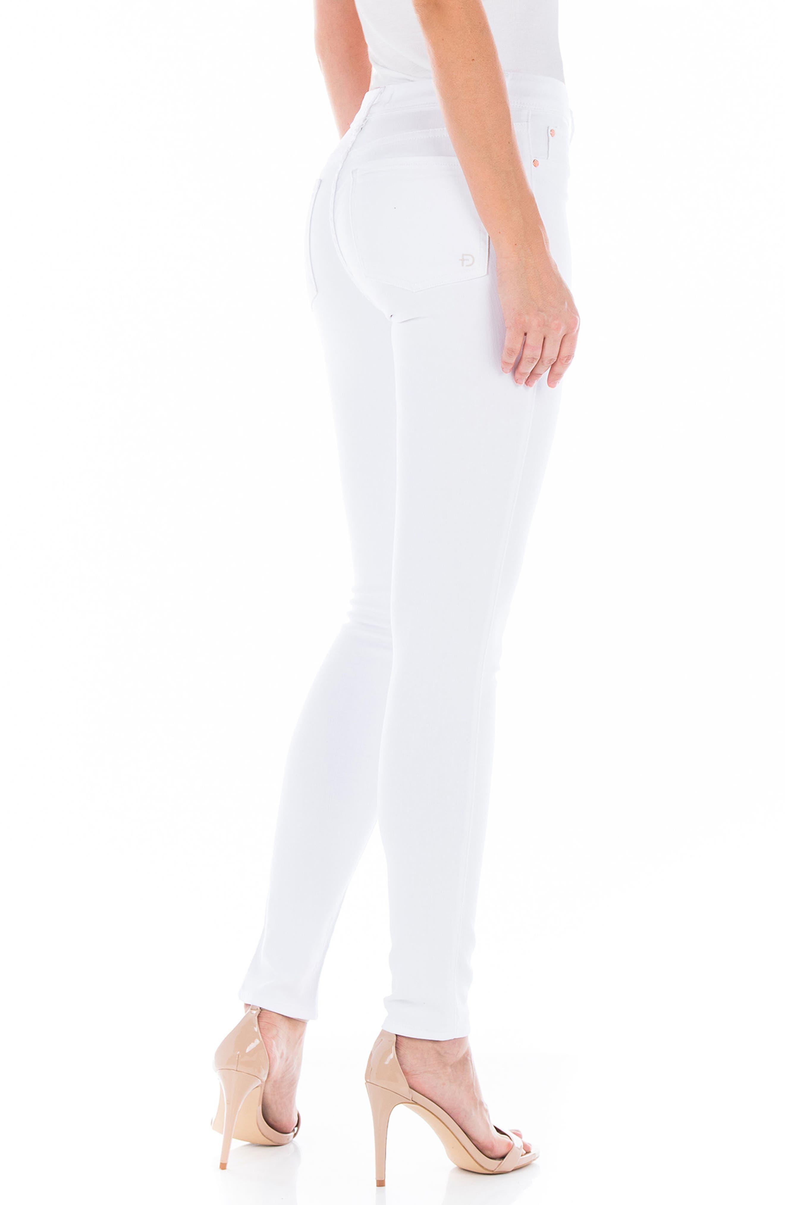 Belvedere Skinny Jeans,                             Alternate thumbnail 3, color,                             White