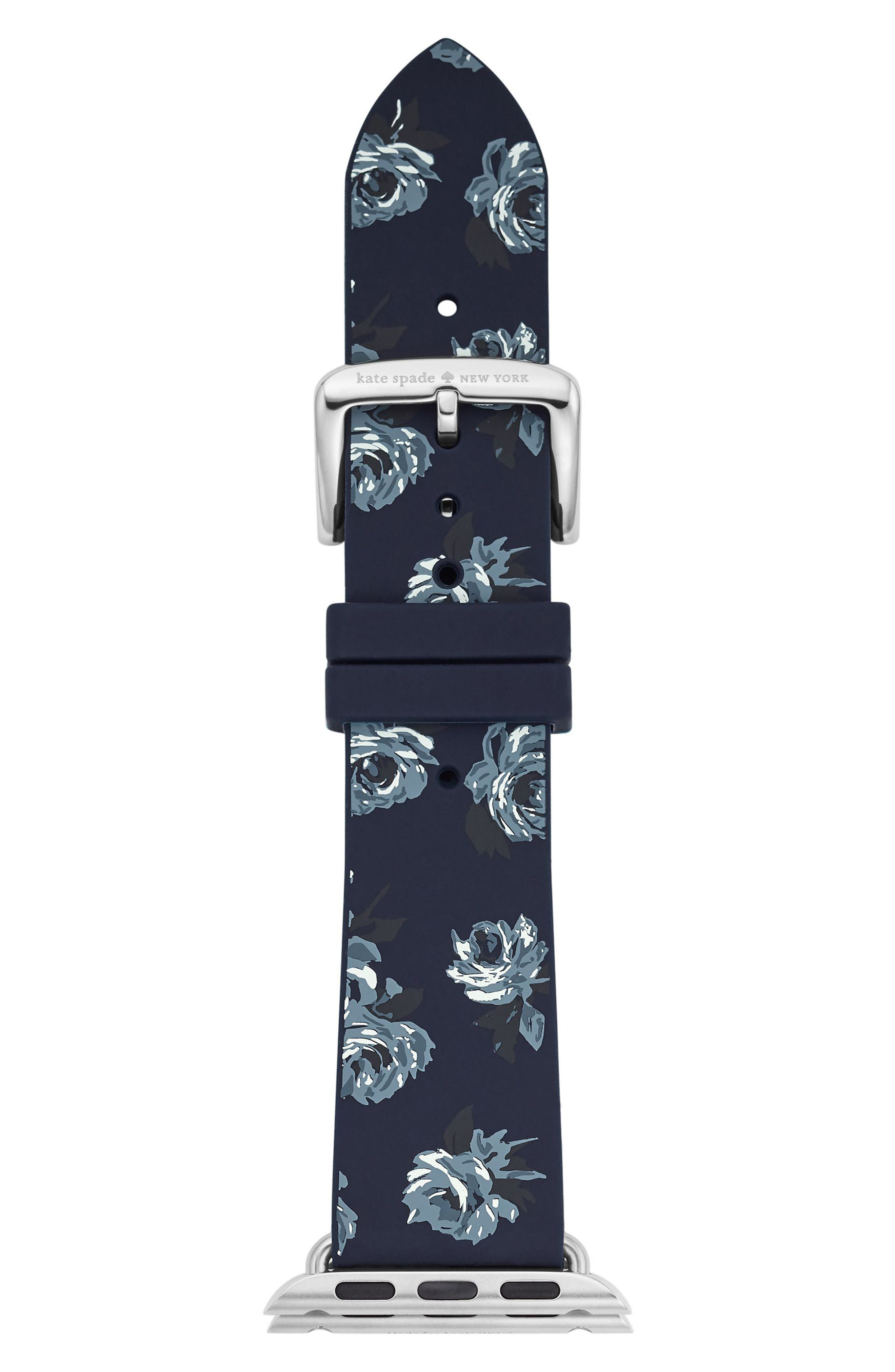 kate spade new york Apple® watch silicone strap, 25mm