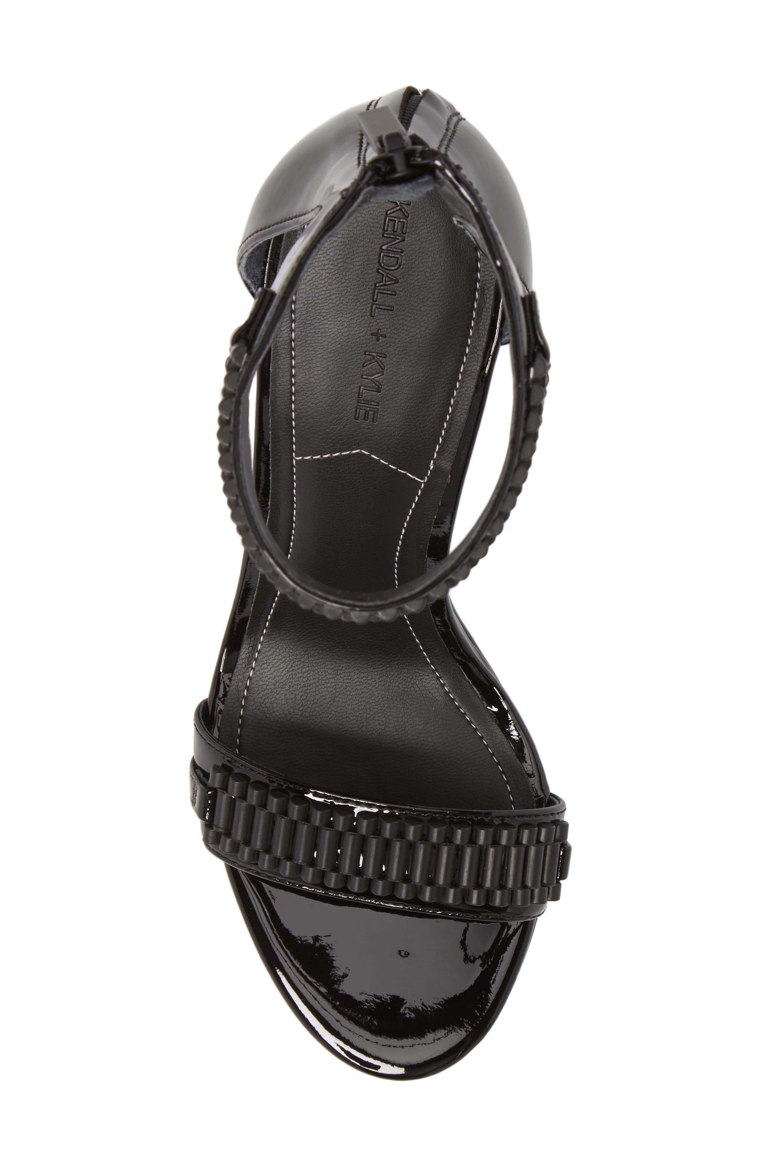 Miaa Beaded Sandal,                             Alternate thumbnail 5, color,                             Black/ Black