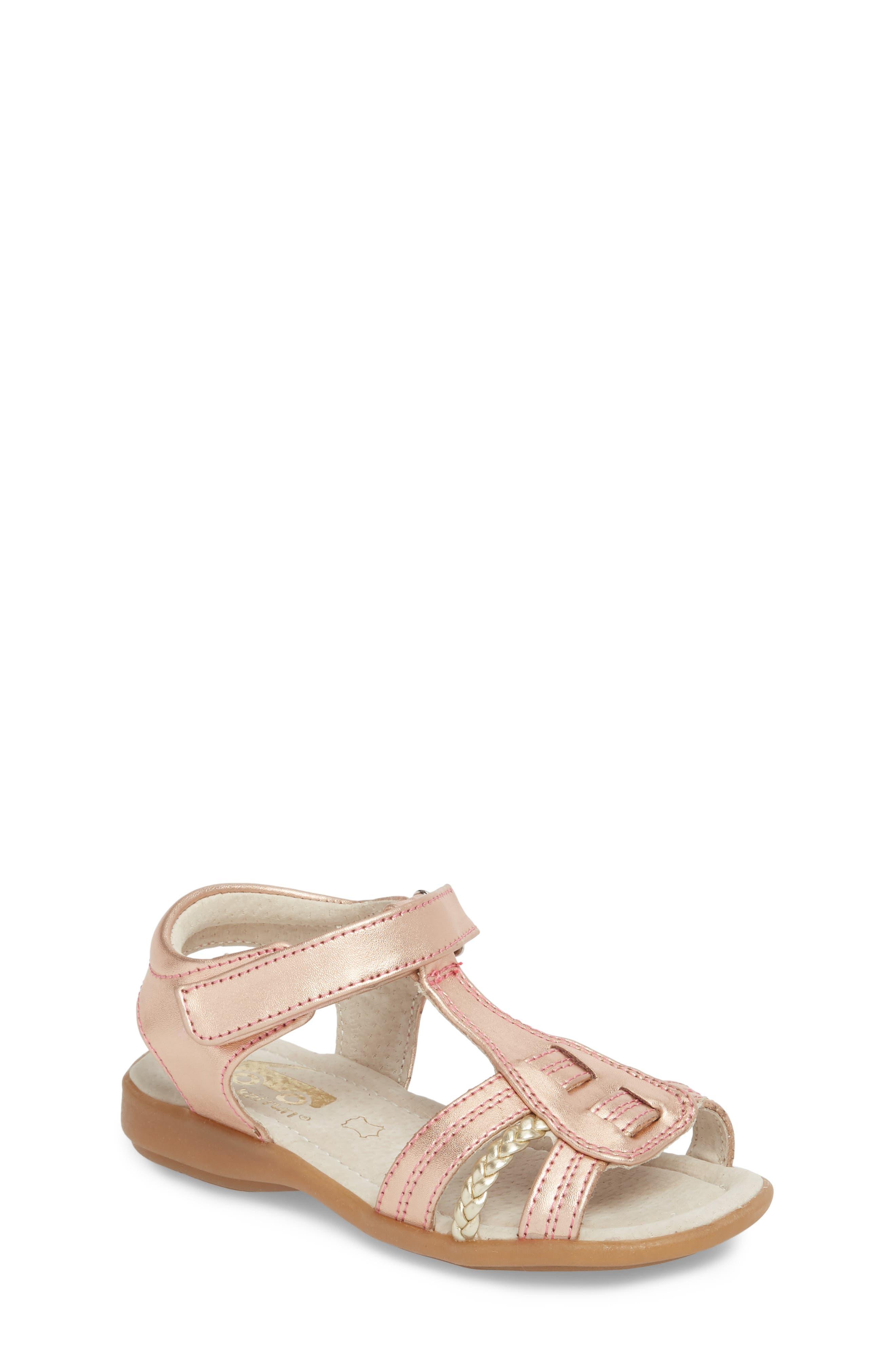 Hadley Metallic Sandal,                         Main,                         color, Rose Gold