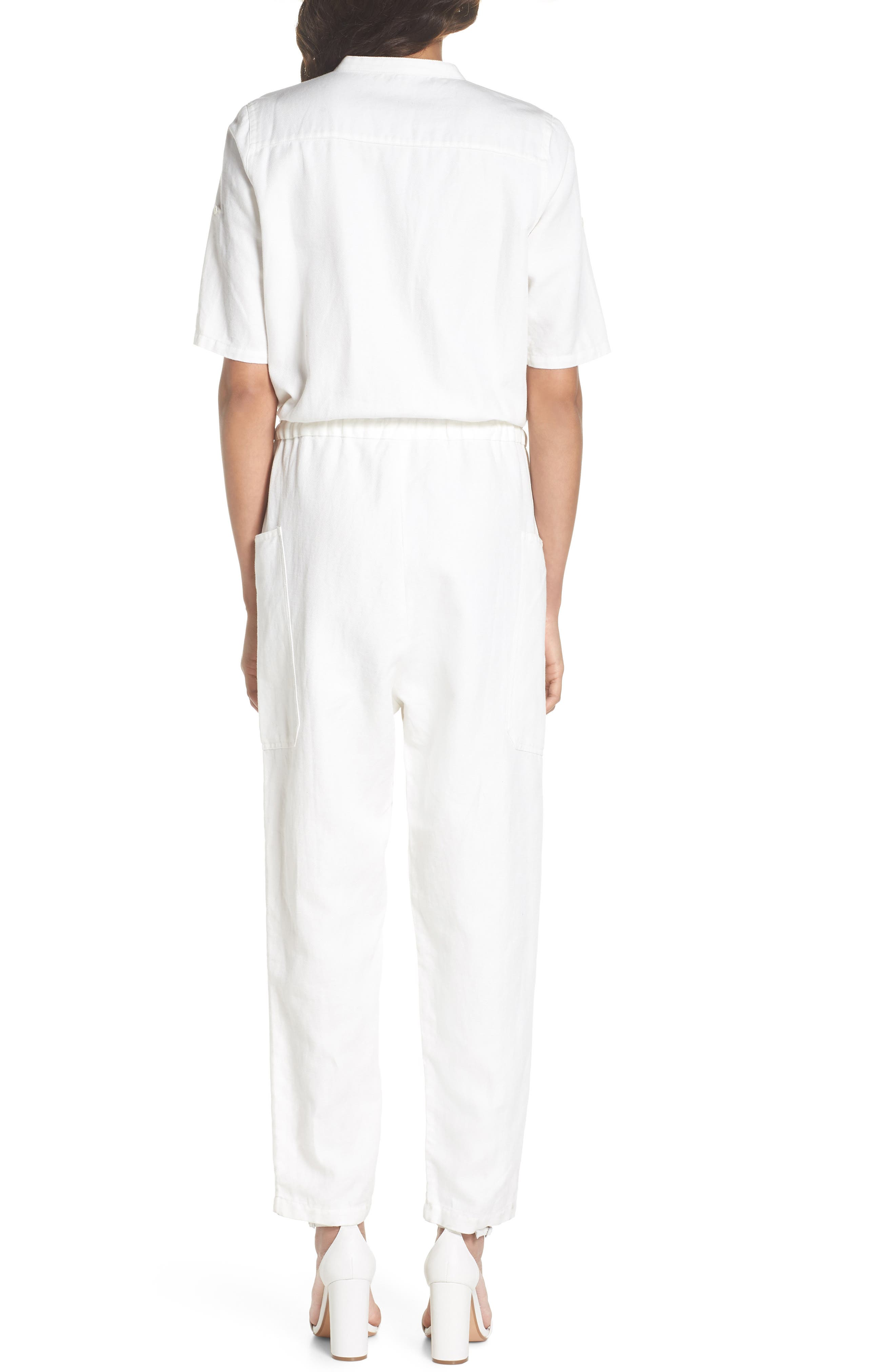 Keep It Cool Jumpsuit,                             Alternate thumbnail 2, color,                             White