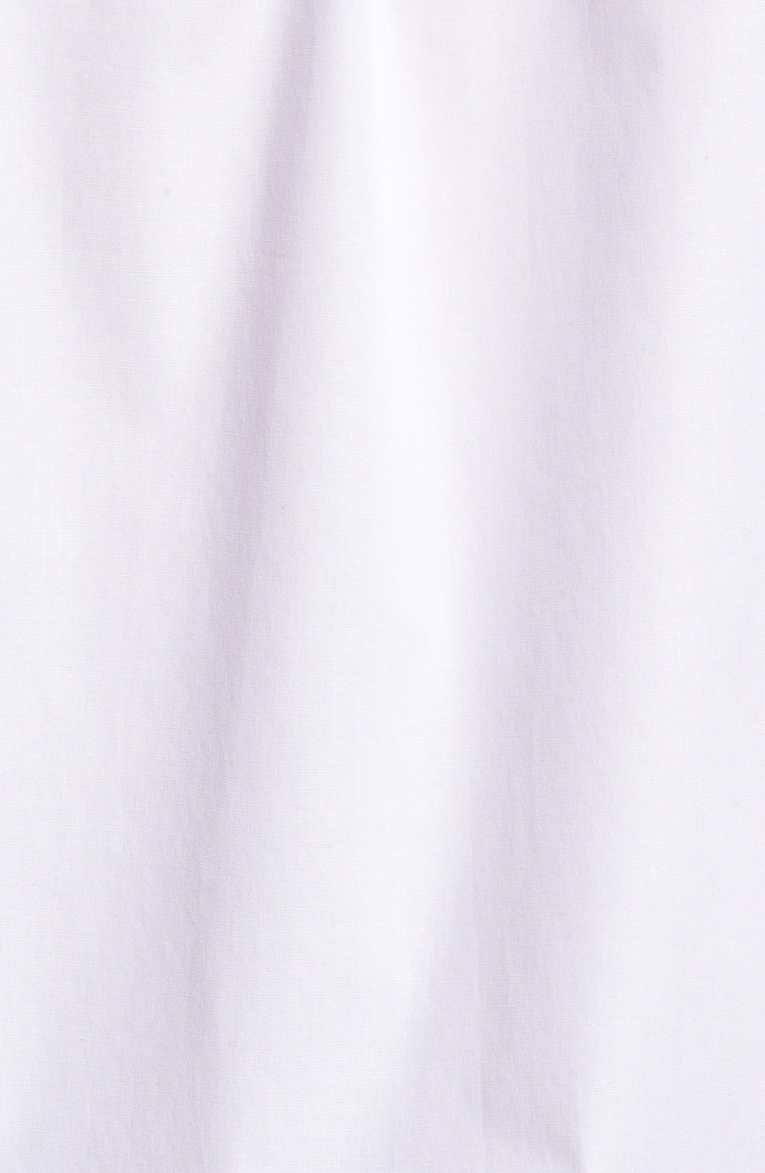Ero3 Trim Fit Sport Shirt,                             Alternate thumbnail 5, color,                             White