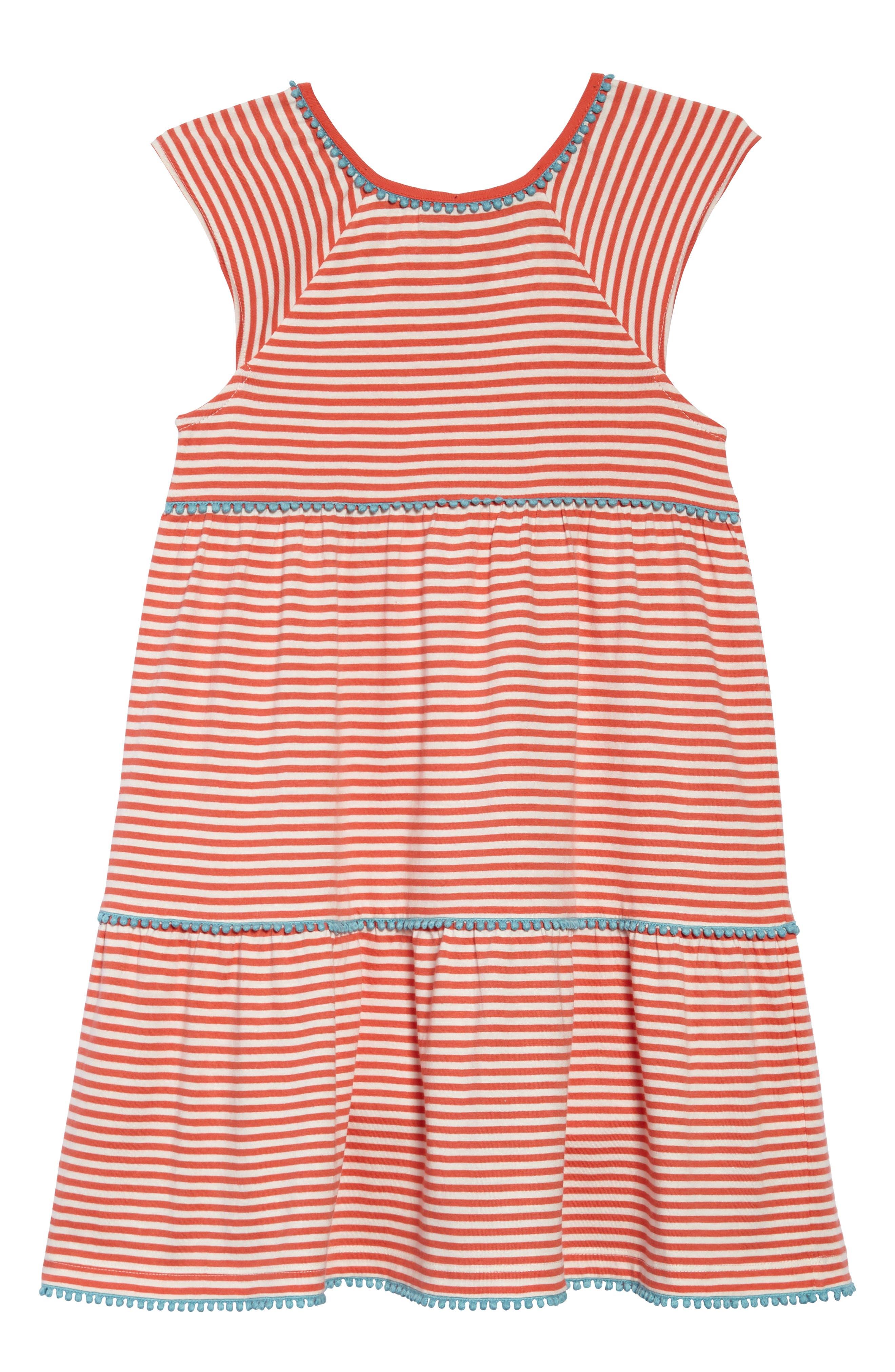 Mini Boden Tiered Jersey Frill Dress (Toddler Girls, Little Girls & Big Girls)