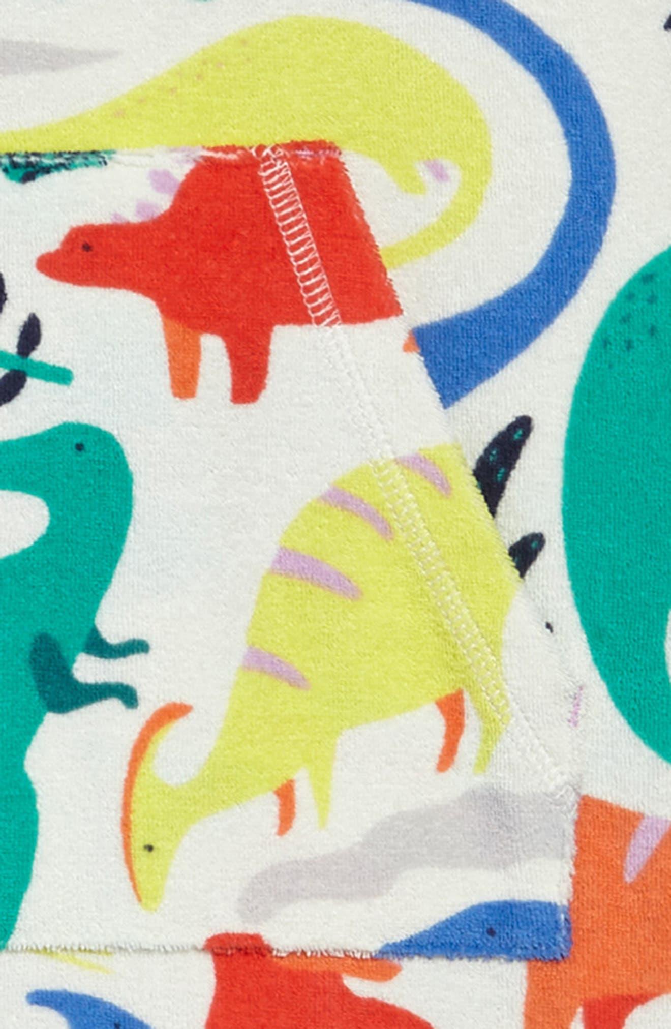 Terry Cloth Dino Beach Dress,                             Alternate thumbnail 2, color,                             Ivory Do-You-Think-She-Saurus