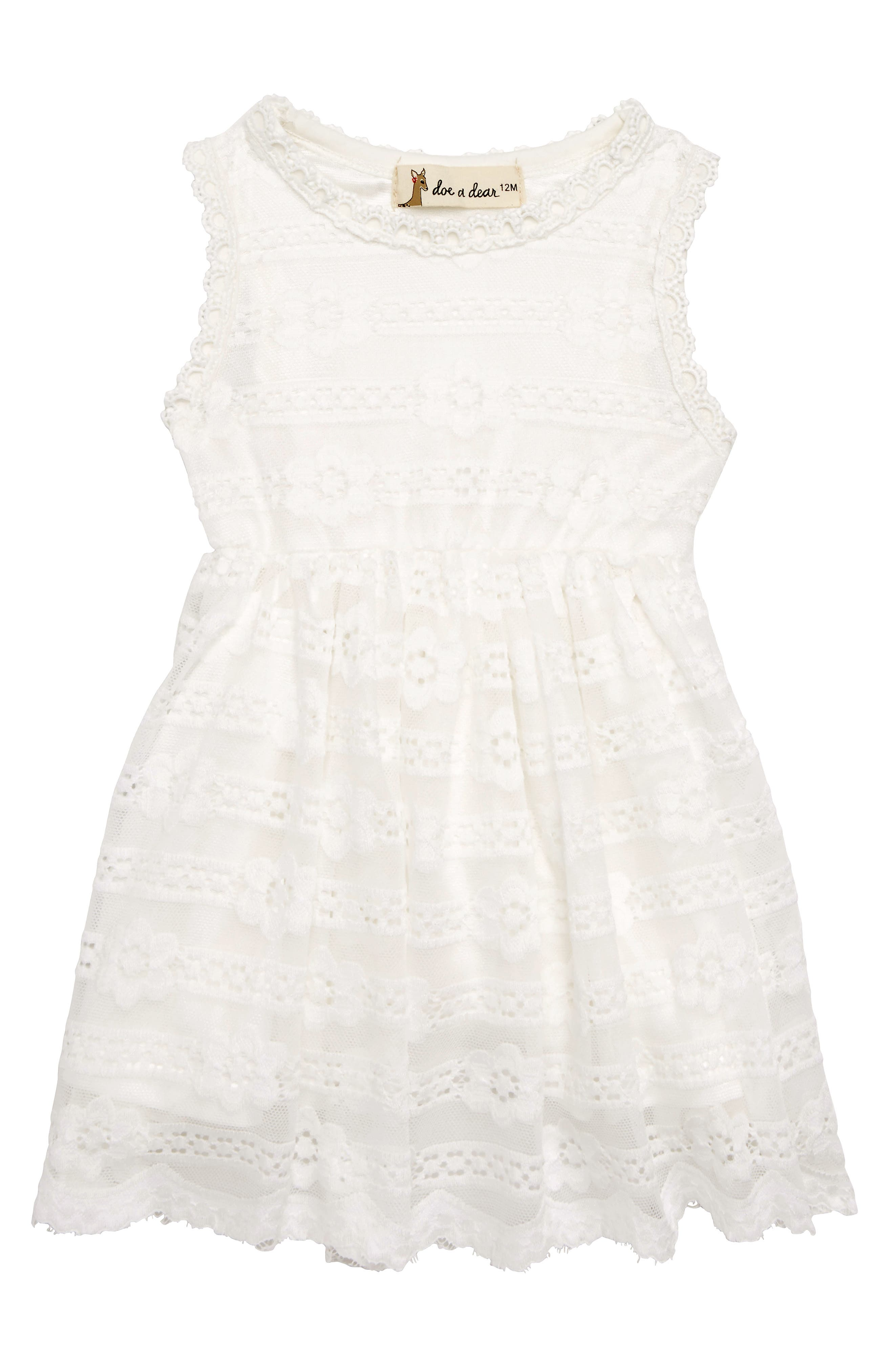 Alternate Image 1 Selected - Doe a Dear Princess Cut Party Dress (Baby Girls)