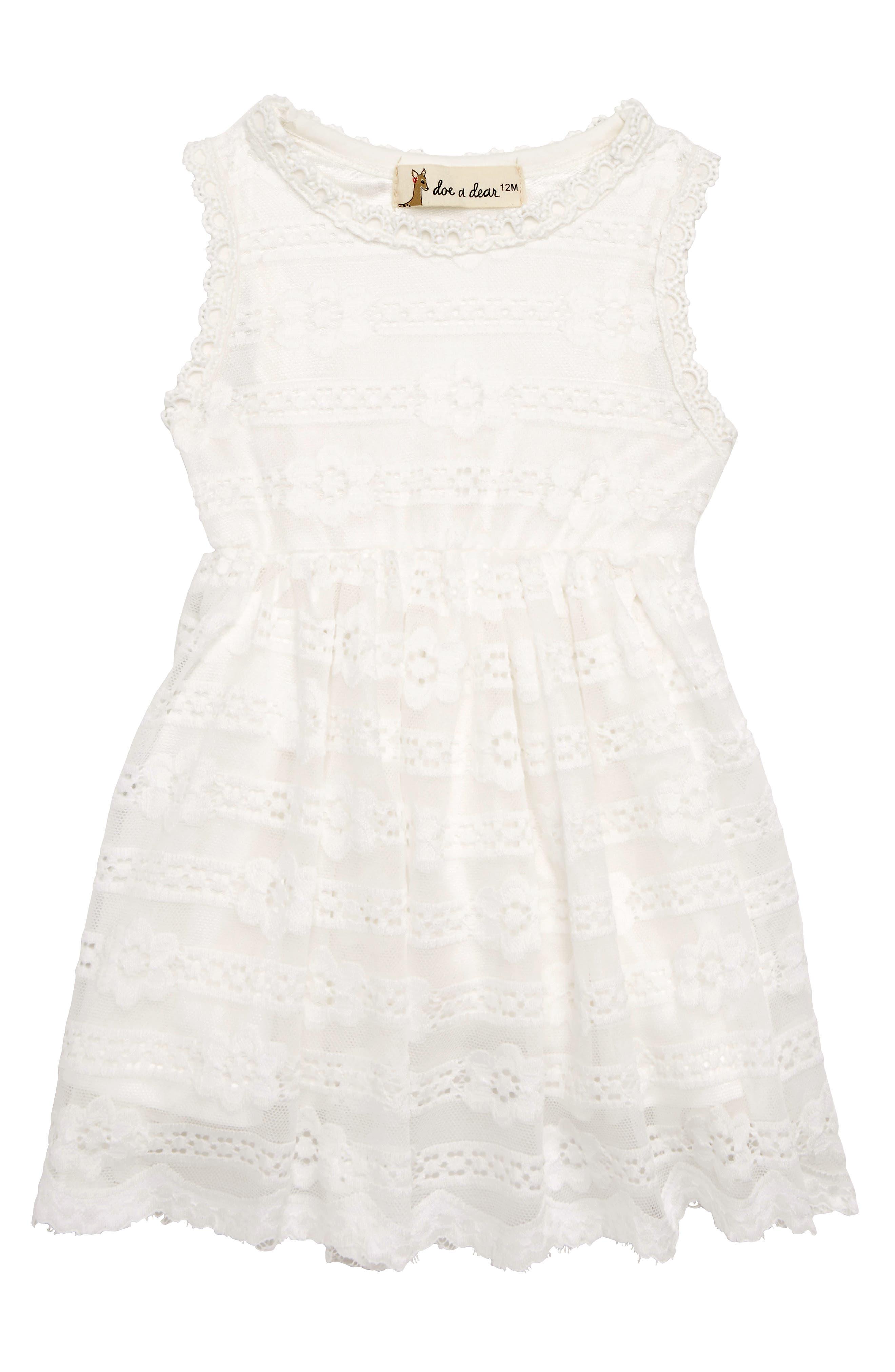 Main Image - Doe a Dear Princess Cut Party Dress (Baby Girls)