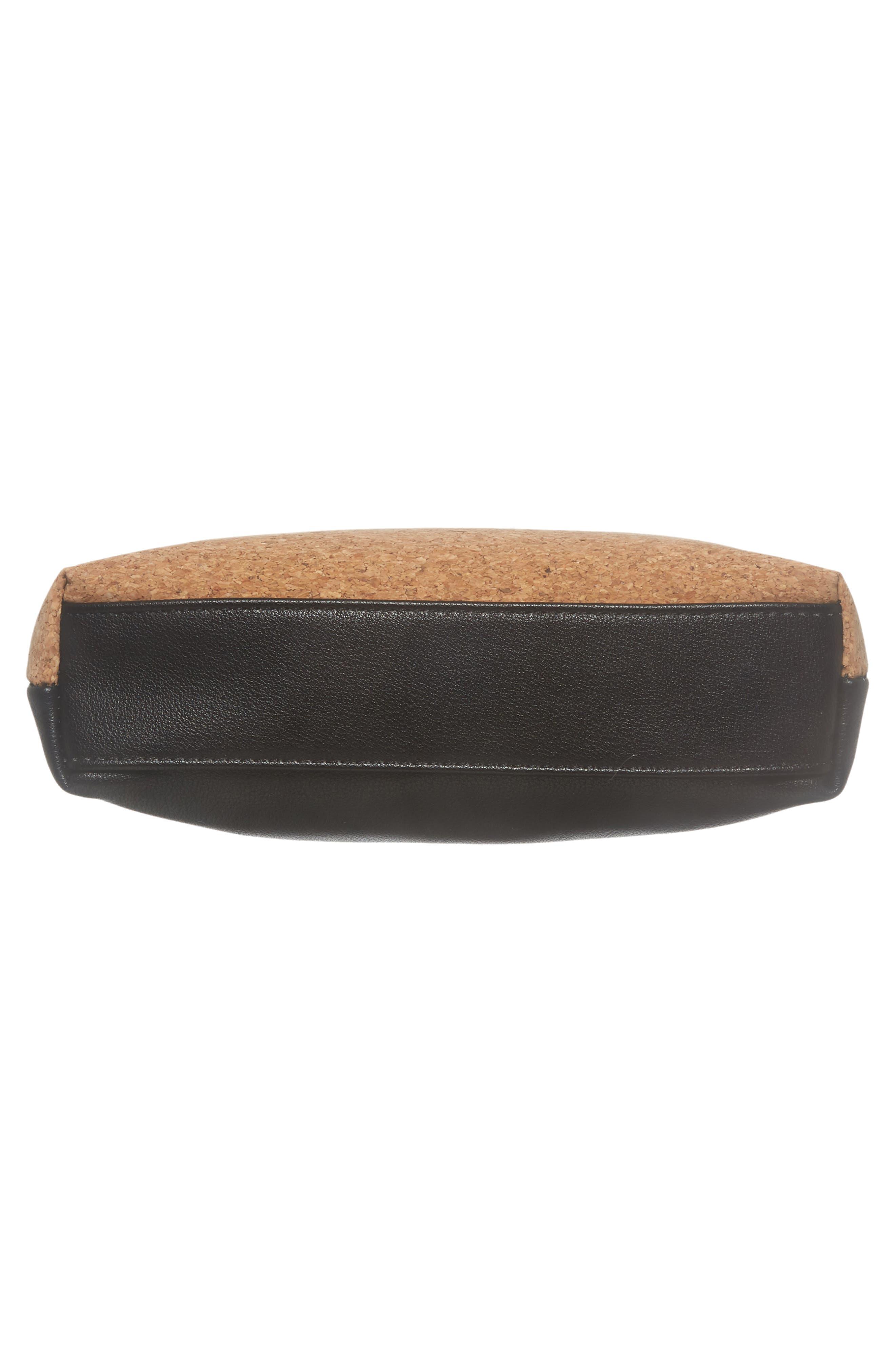 Claudia Faux Leather Crossbody Bag,                             Alternate thumbnail 5, color,                             Black