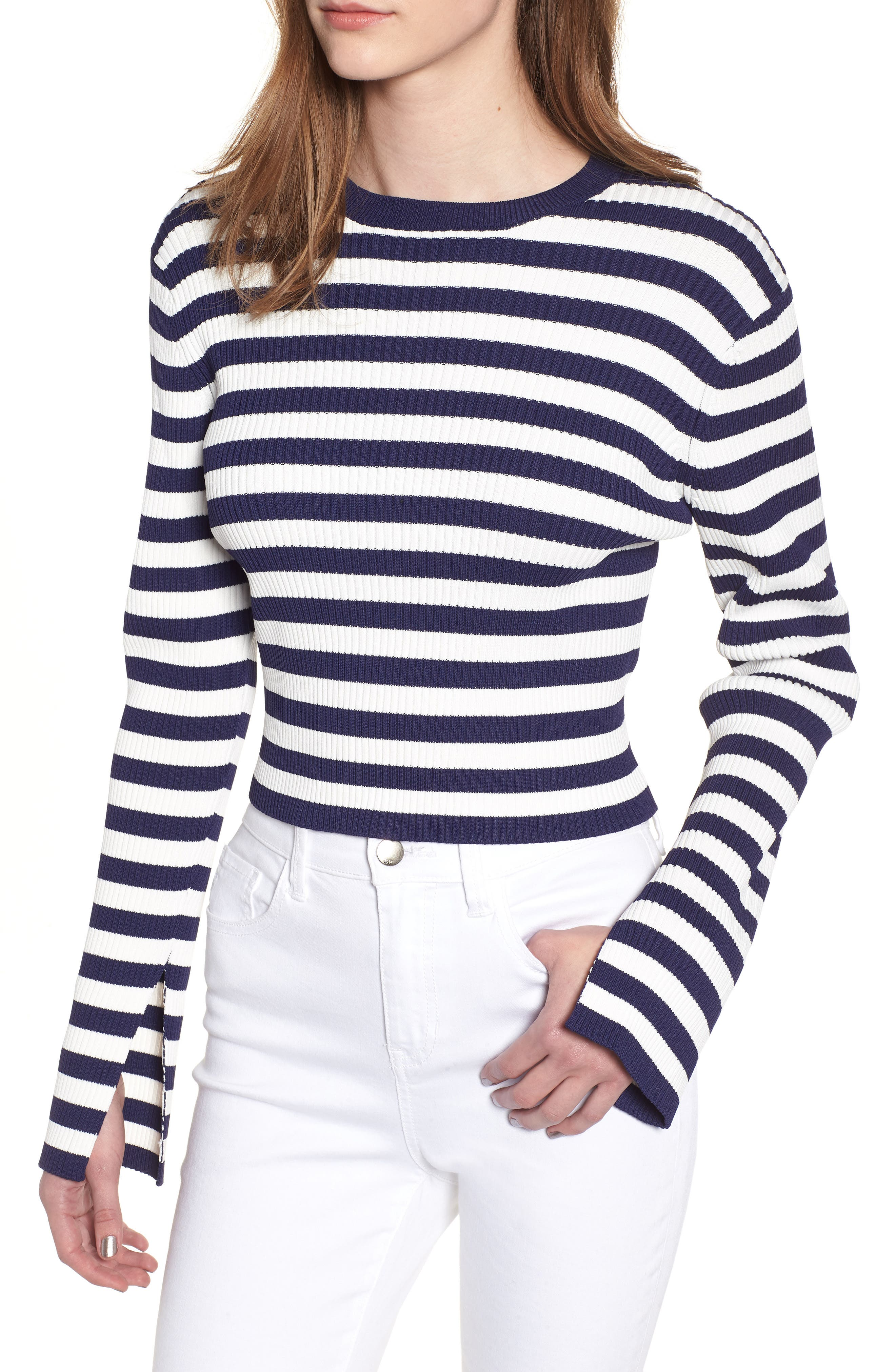 Perry Crop Top,                             Main thumbnail 1, color,                             Stripe