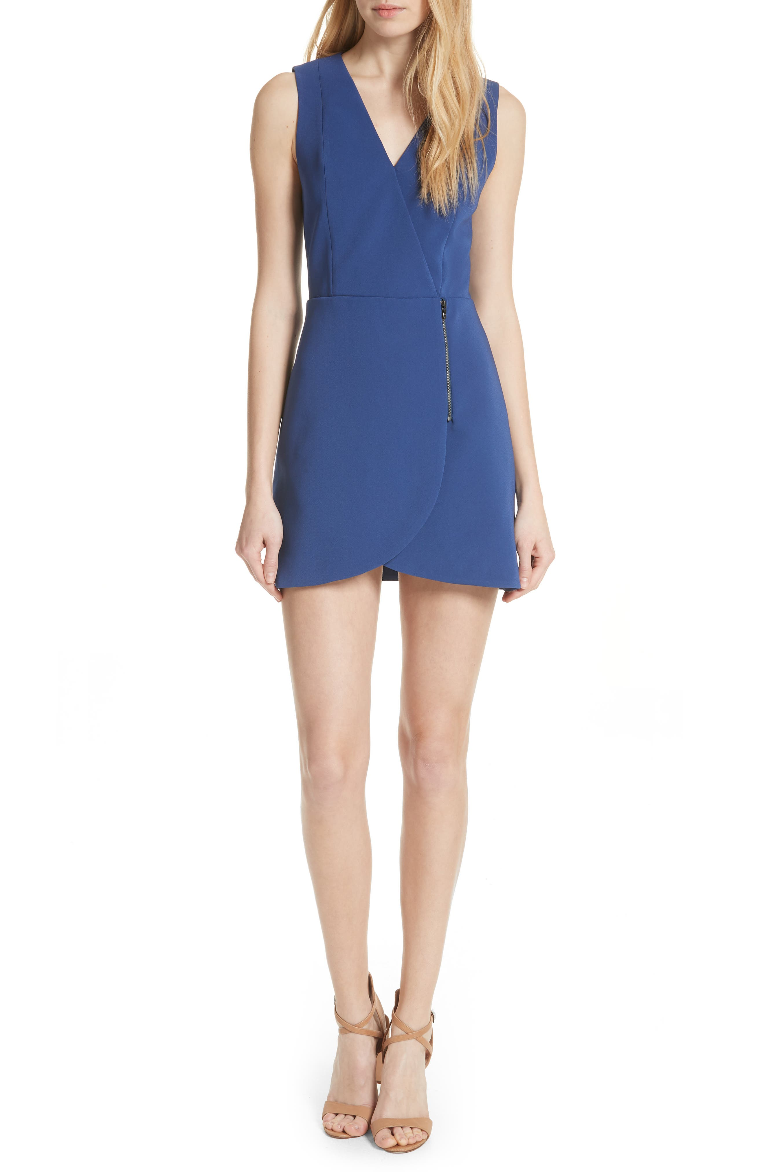Alice + Olivia Lennon Zip Front Minidress