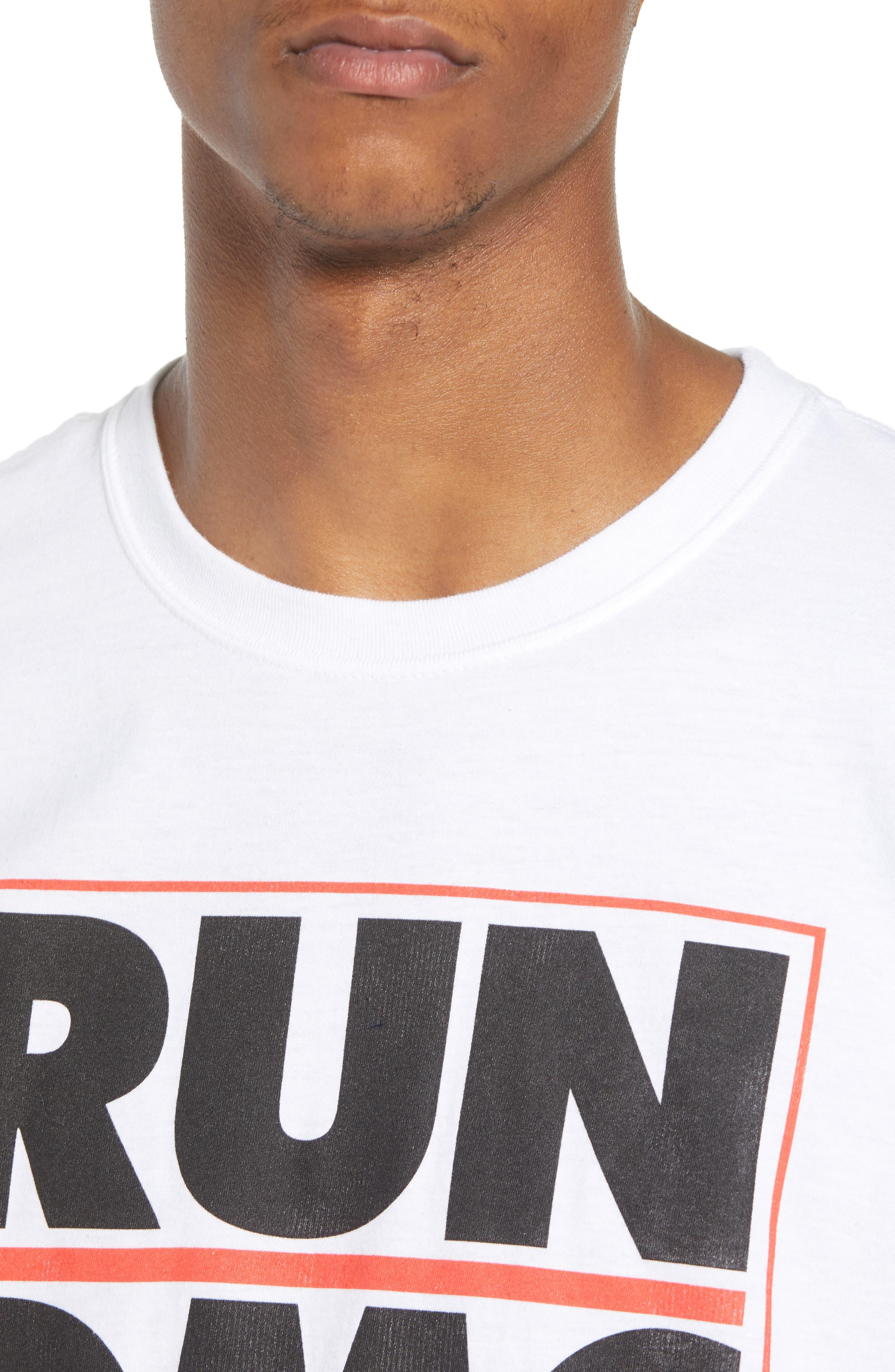 Run-DMC T-Shirt,                             Alternate thumbnail 4, color,                             White Tee Run Dmc