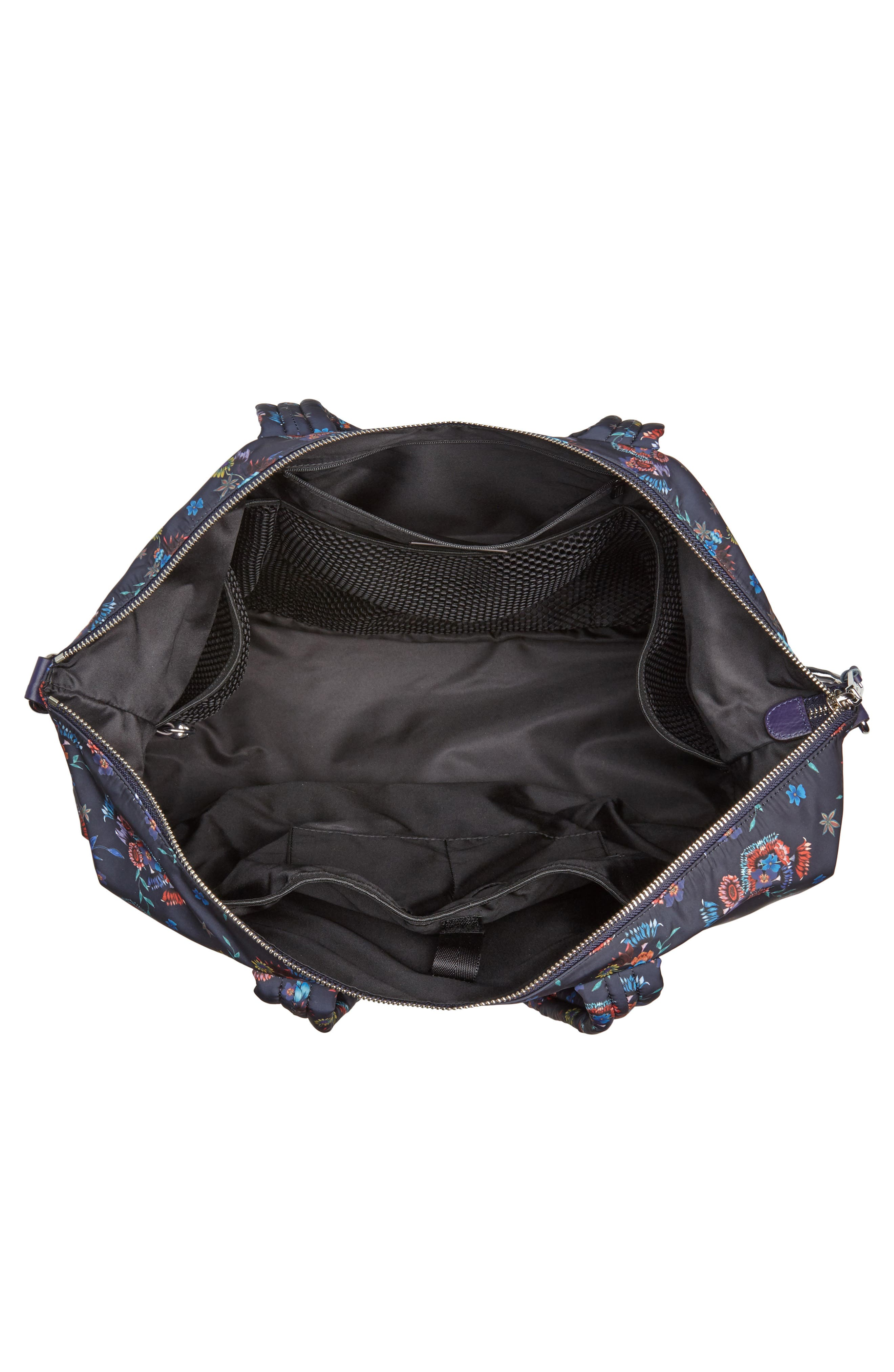 Weekend Nylon Duffel Bag,                             Alternate thumbnail 4, color,                             Floral Blue