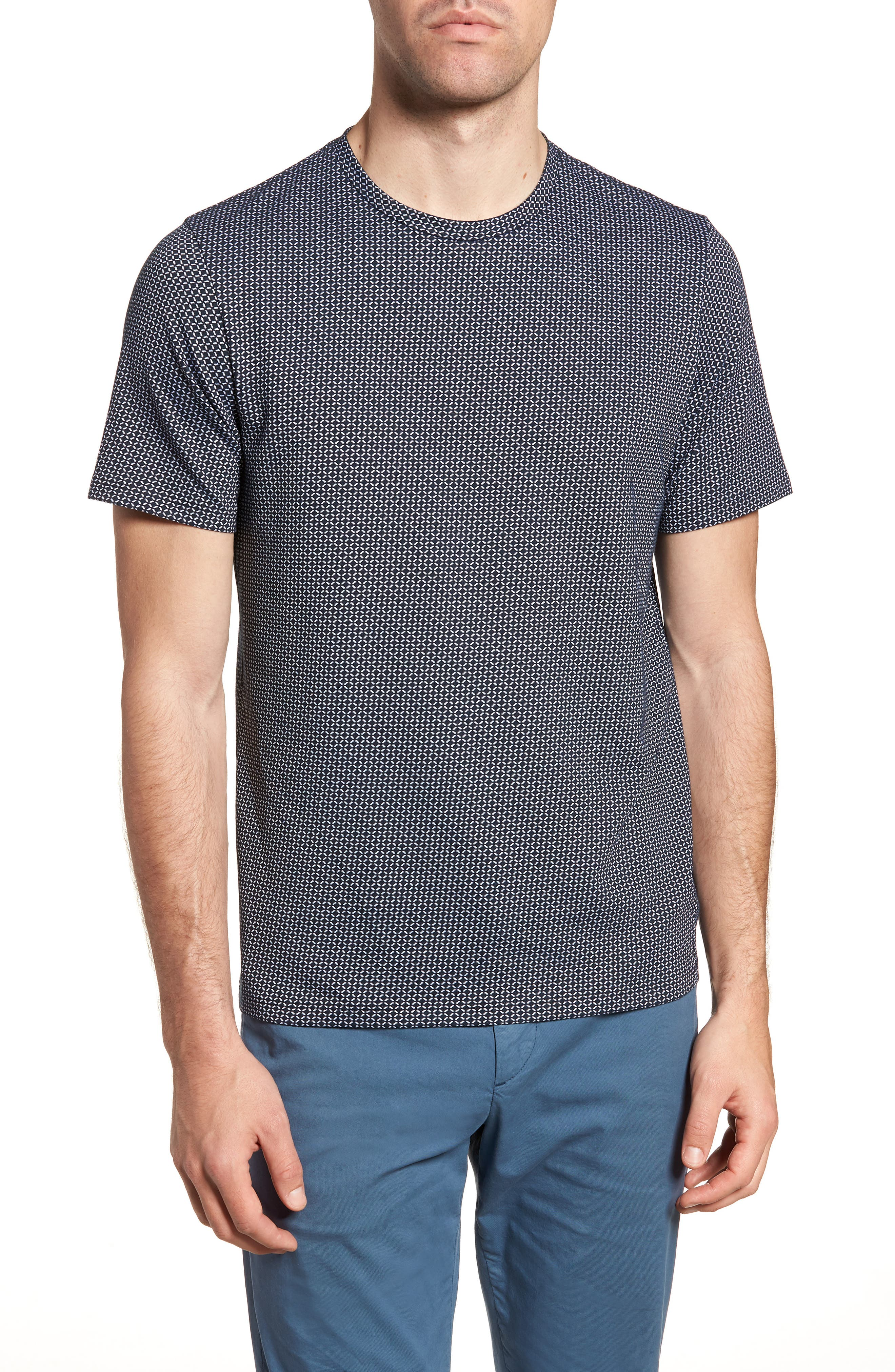 Sillar Print Crewneck T-Shirt,                             Main thumbnail 1, color,                             Eclipse/ White