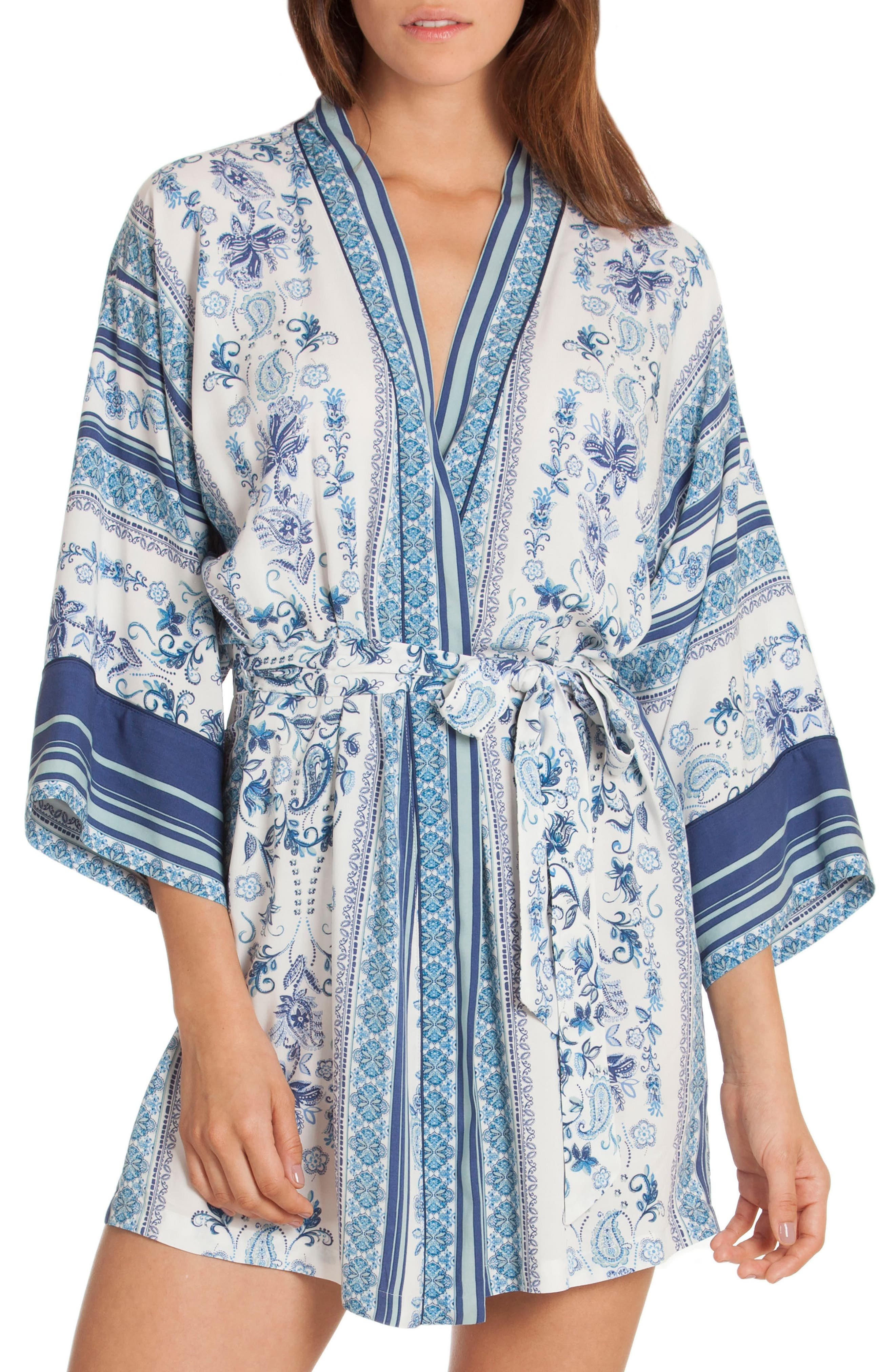 Wrap,                         Main,                         color, Blue/ White Print