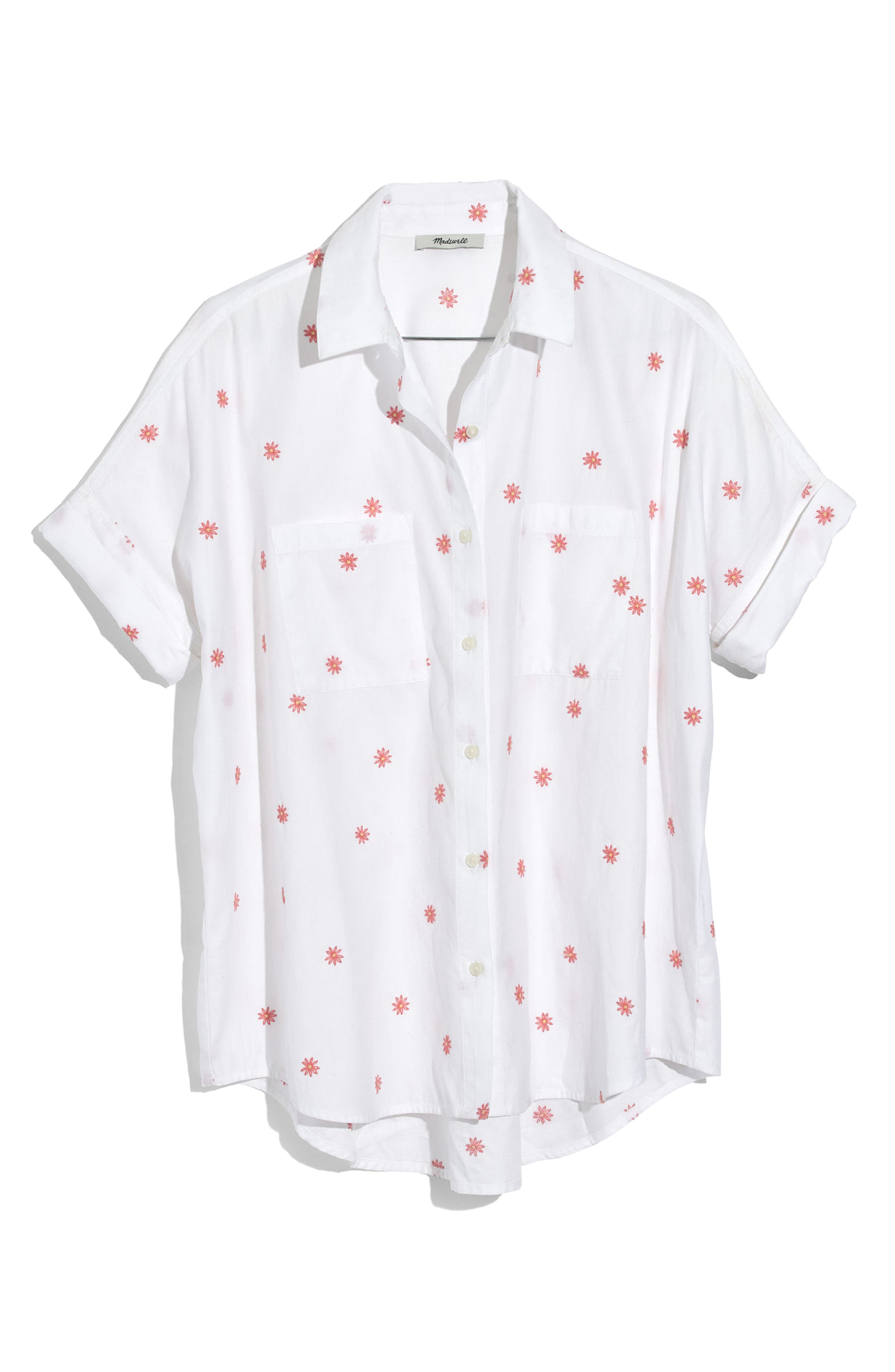 Alternate Image 4  - Madewell Daisy Embroidered Courier Shirt