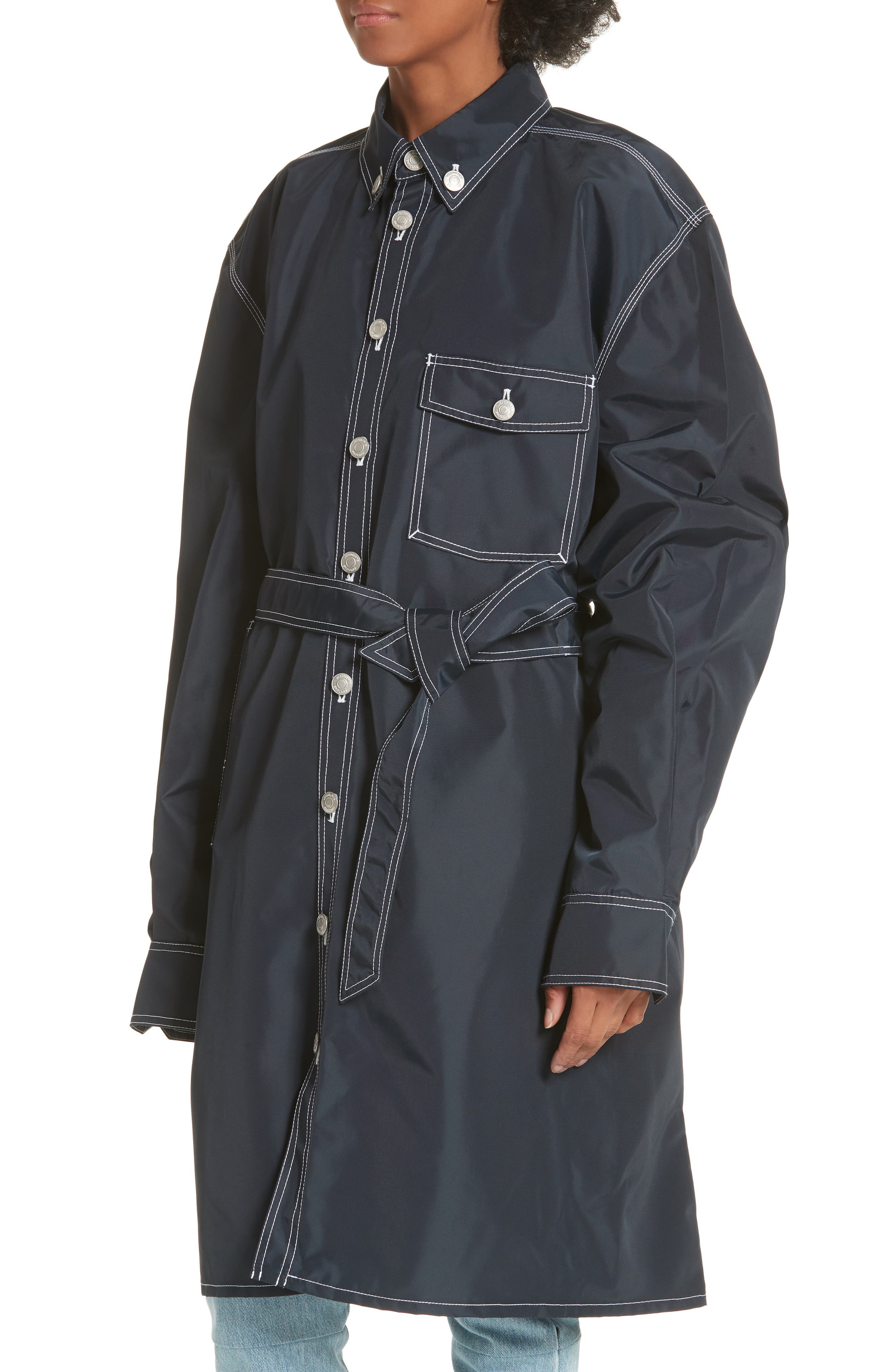 Workwear Coat,                             Alternate thumbnail 4, color,                             Navy
