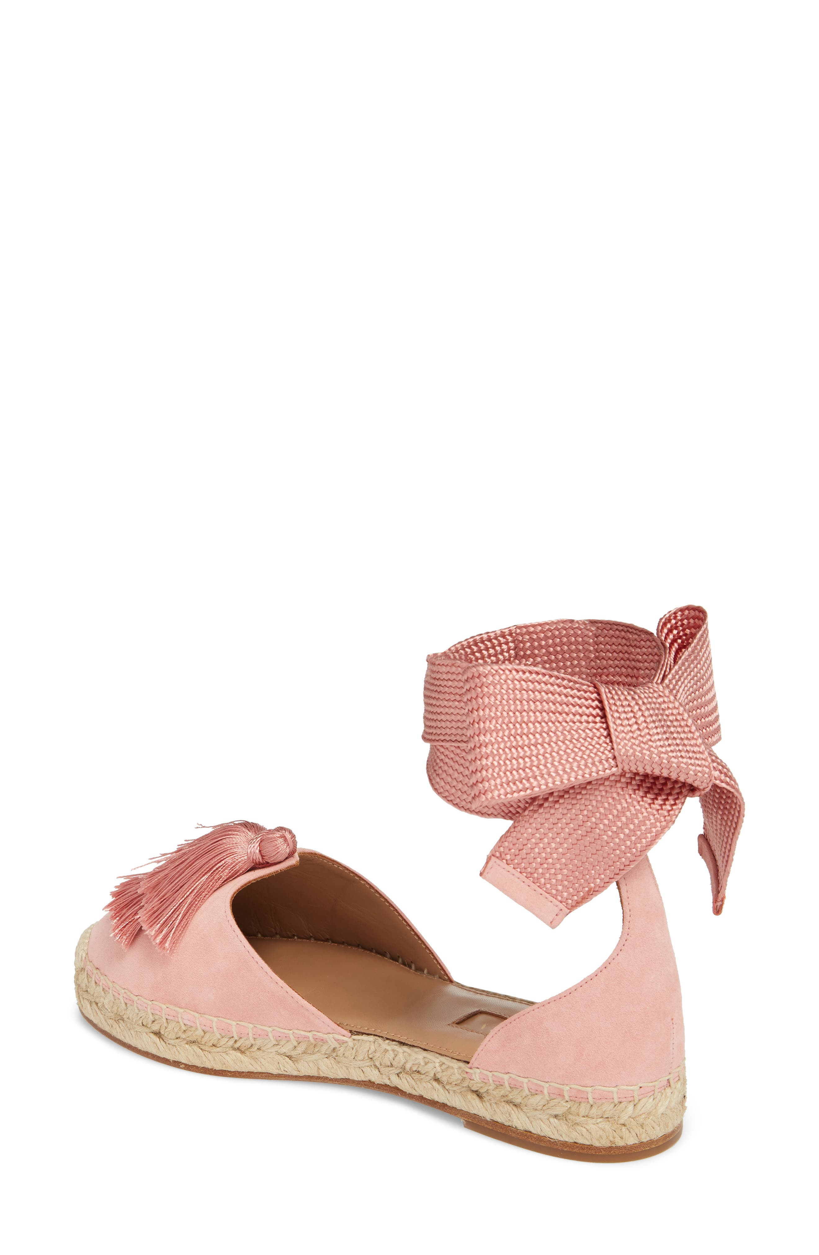 Love Tassel Espadrille Flat,                             Alternate thumbnail 2, color,                             Jaipur Pink