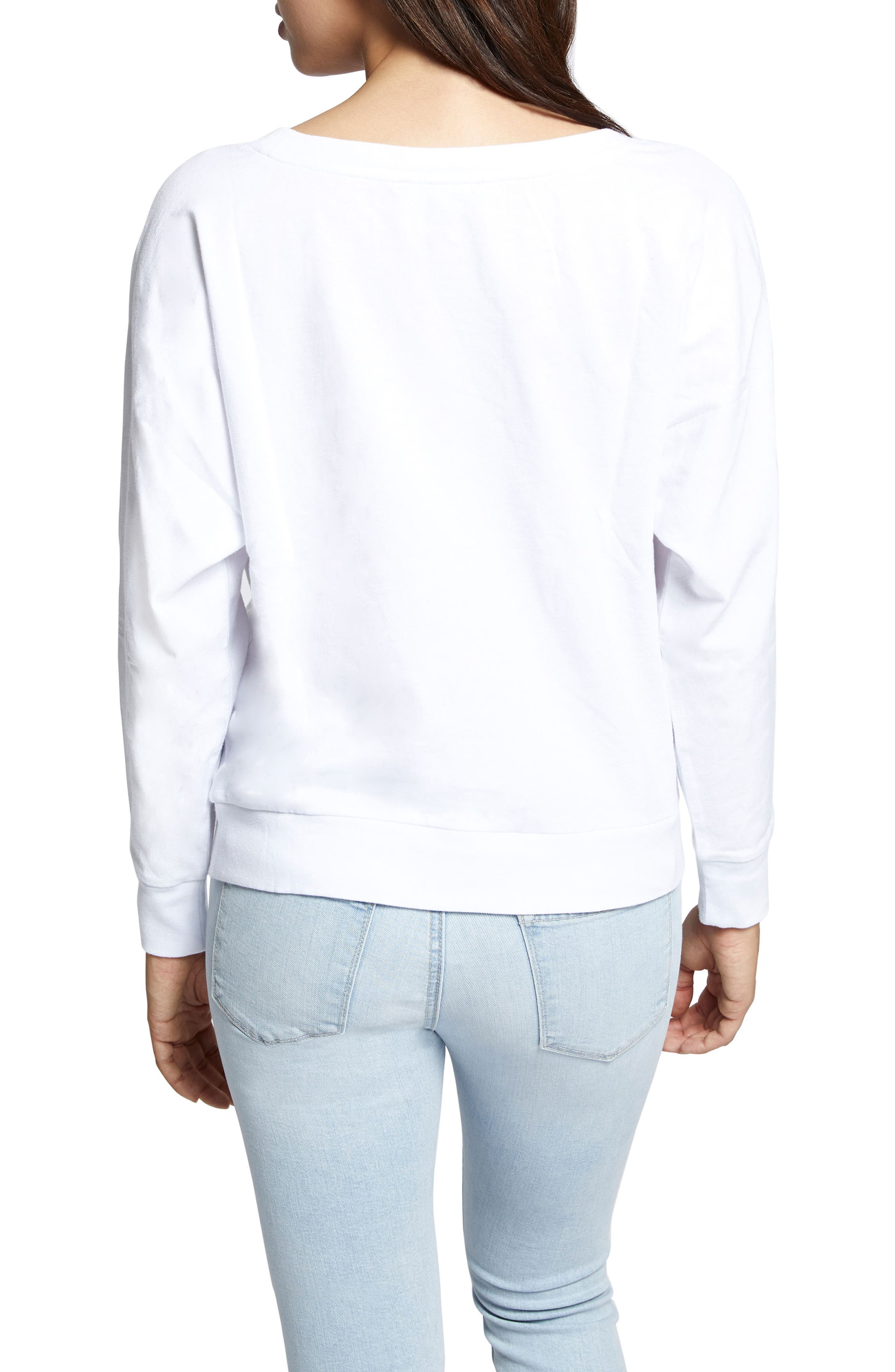 Chill Out Sweatshirt,                             Alternate thumbnail 2, color,                             White