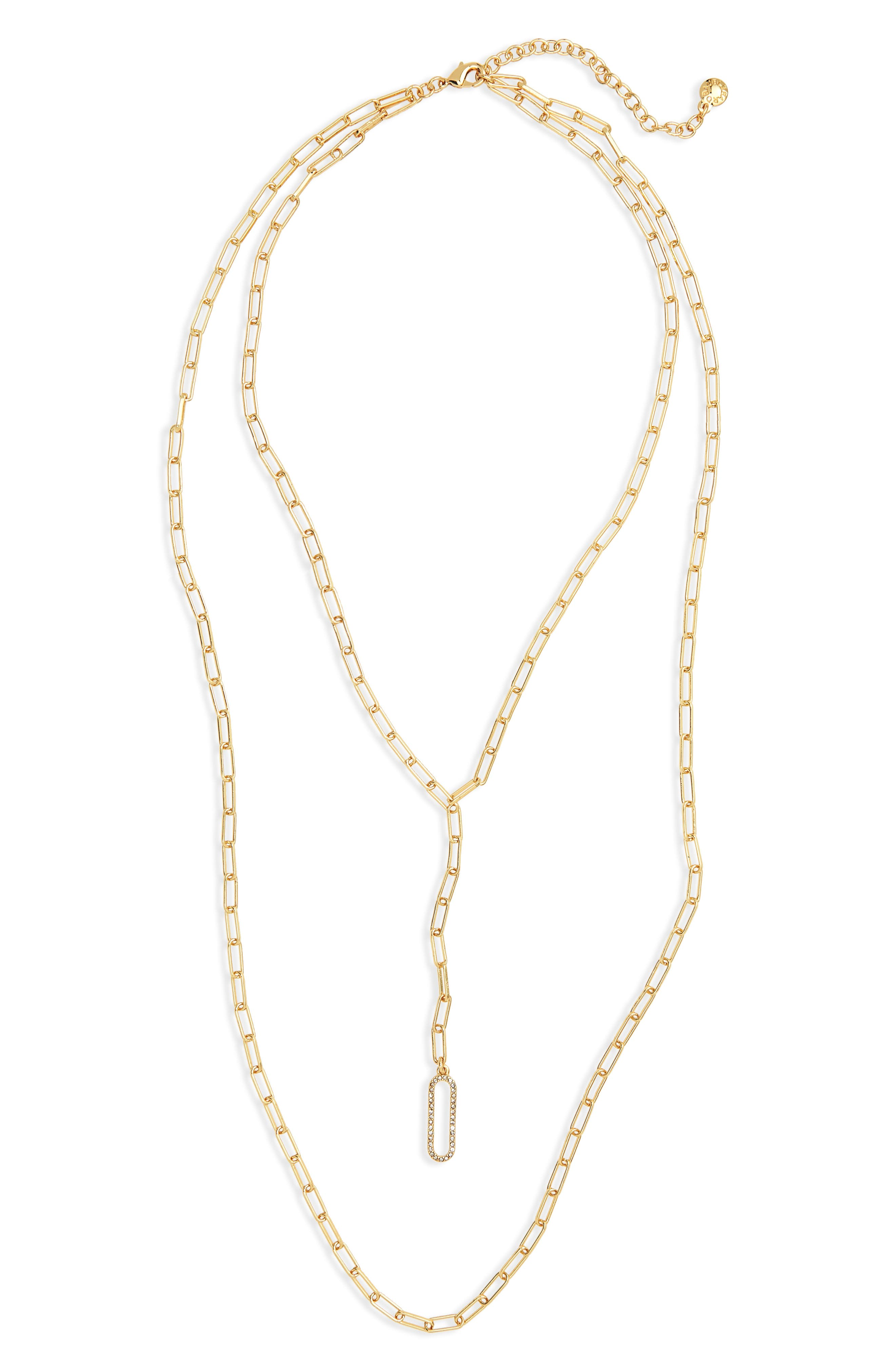 Layered Link Necklace,                         Main,                         color, Gold