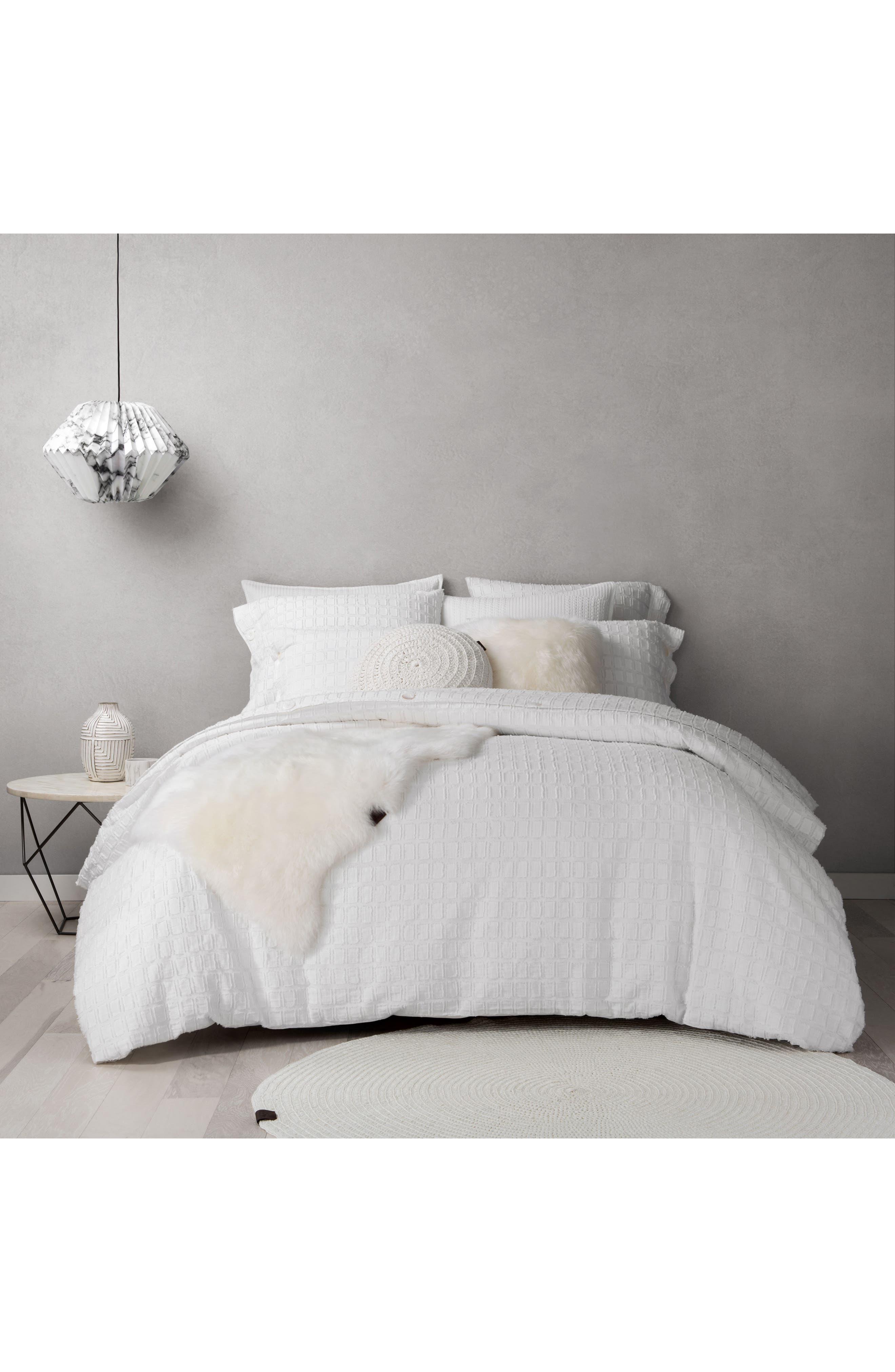 Round Crochet Accent Pillow,                             Alternate thumbnail 3, color,                             Snow