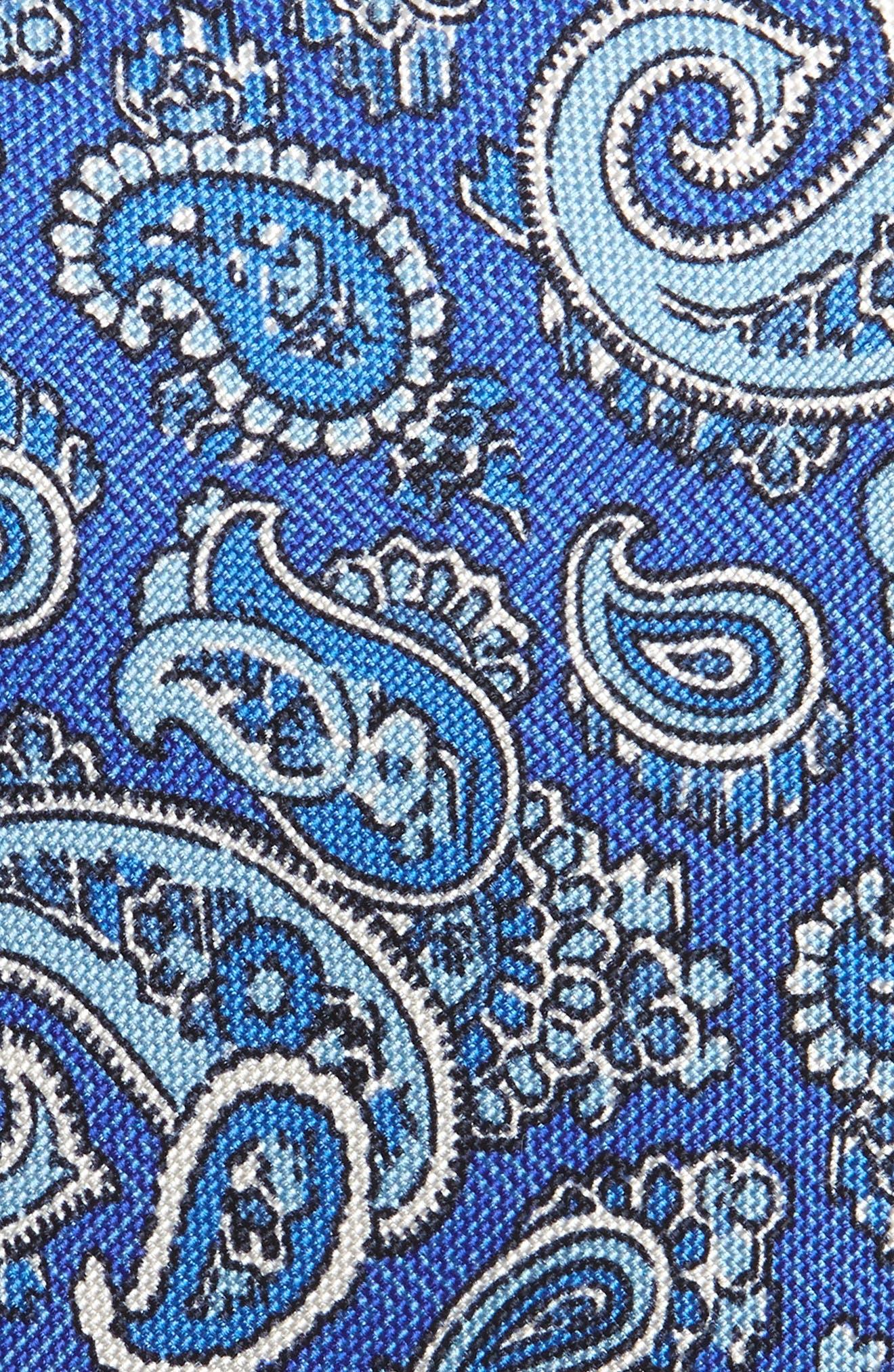 Paisley Silk Tie,                             Alternate thumbnail 2, color,                             Blue