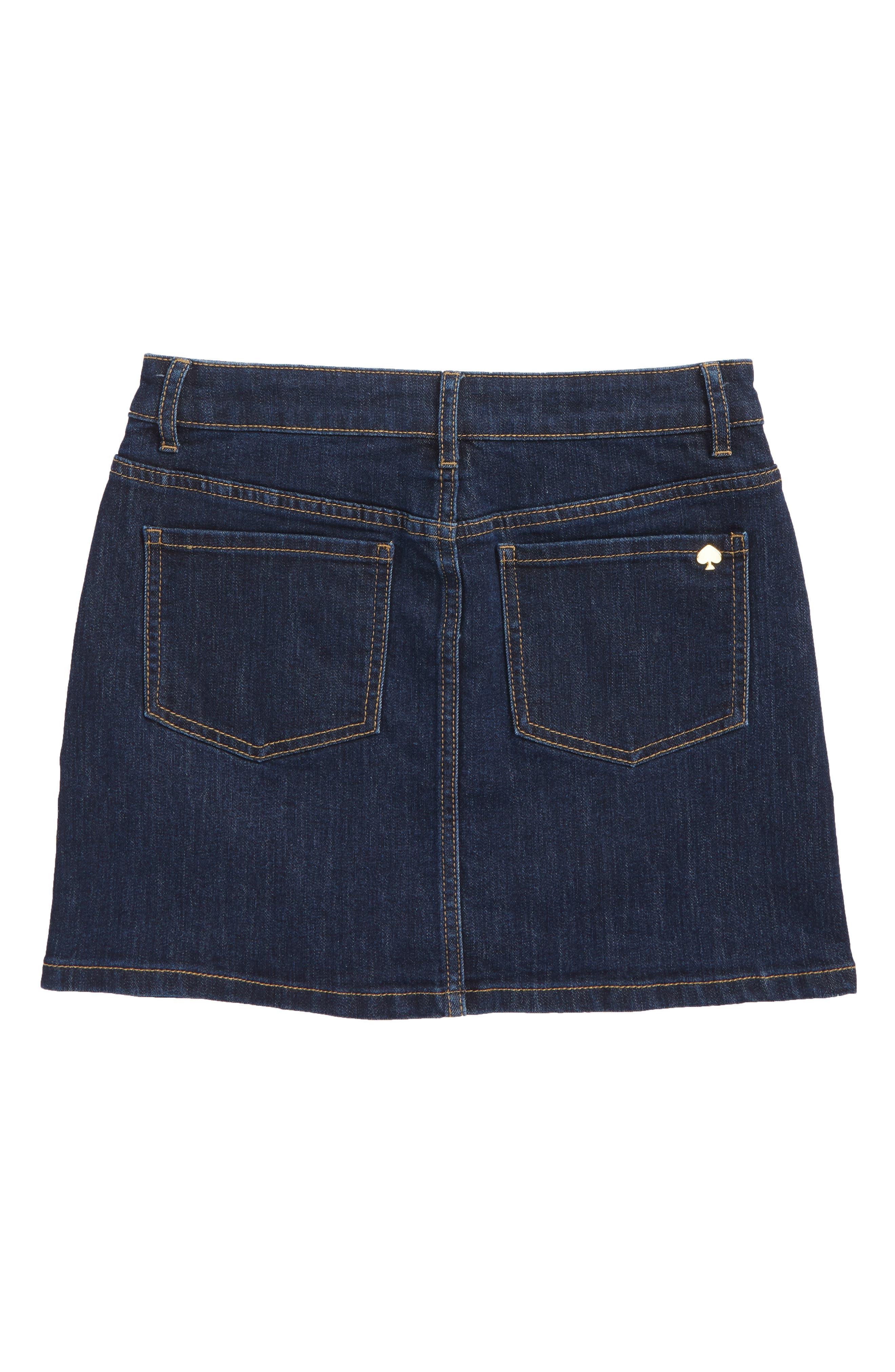 denim skirt,                             Alternate thumbnail 2, color,                             Denim Indigo