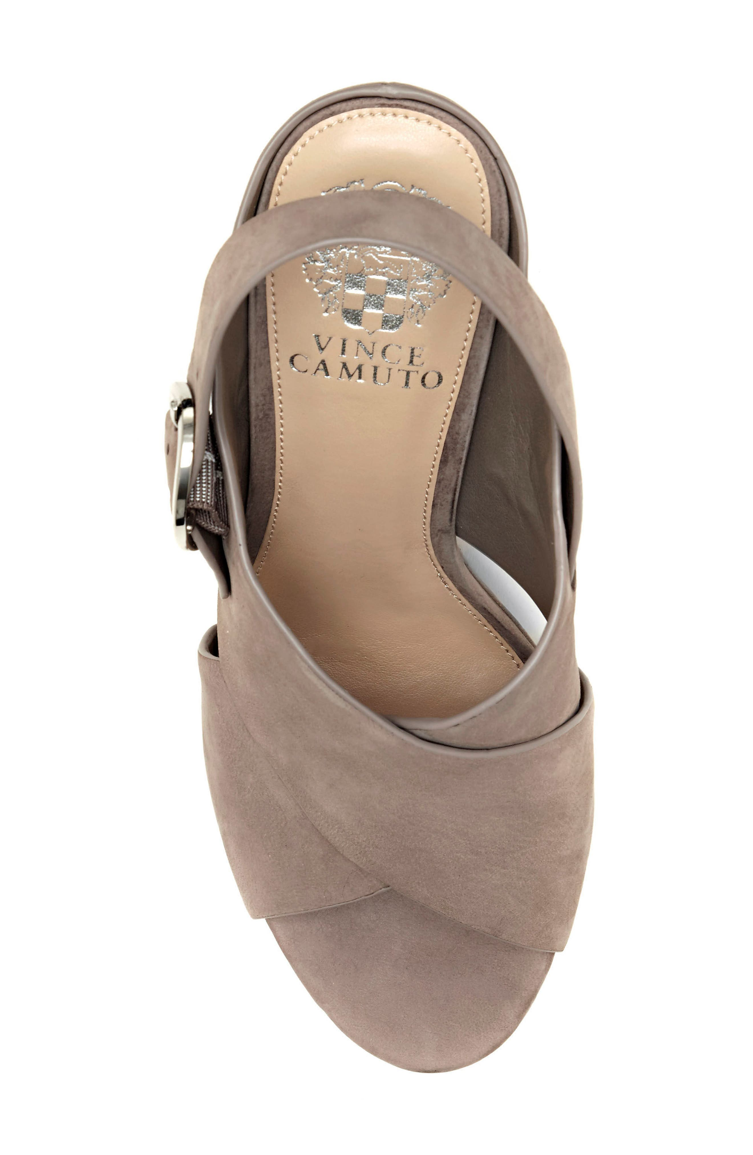 Iteena Wedge Sandal,                             Alternate thumbnail 7, color,                             Hippo Grey Leather