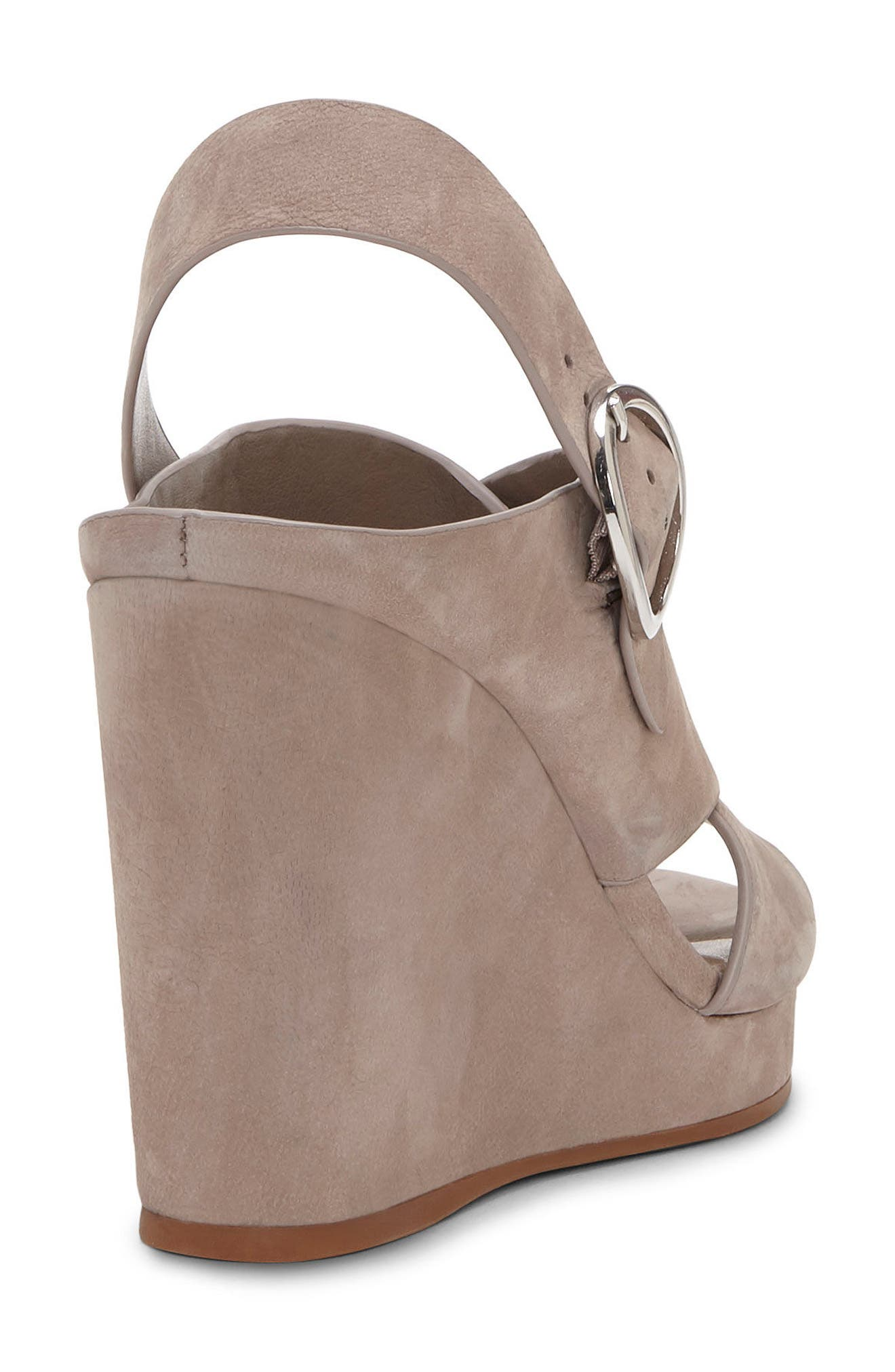 Iteena Wedge Sandal,                             Alternate thumbnail 3, color,                             Hippo Grey Leather